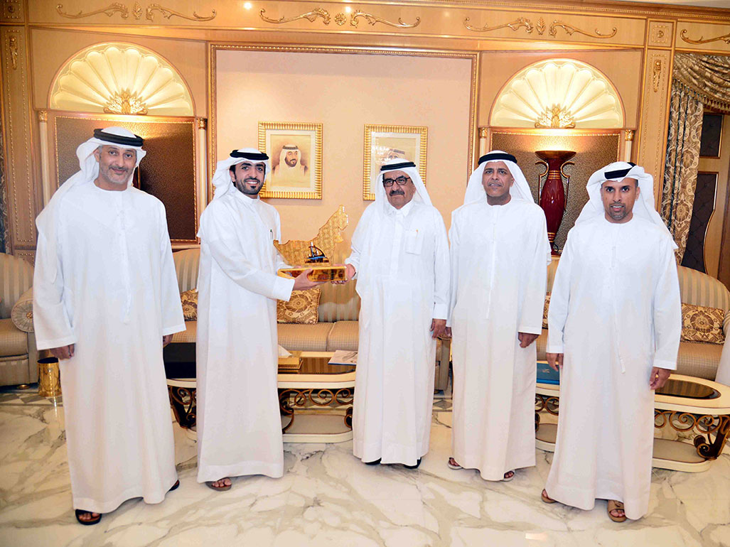 Hamdan Bin Rashid Receives Delegation From Dubai International Marine Club, Supreme Organising Committee Of Al Gaffal Race
