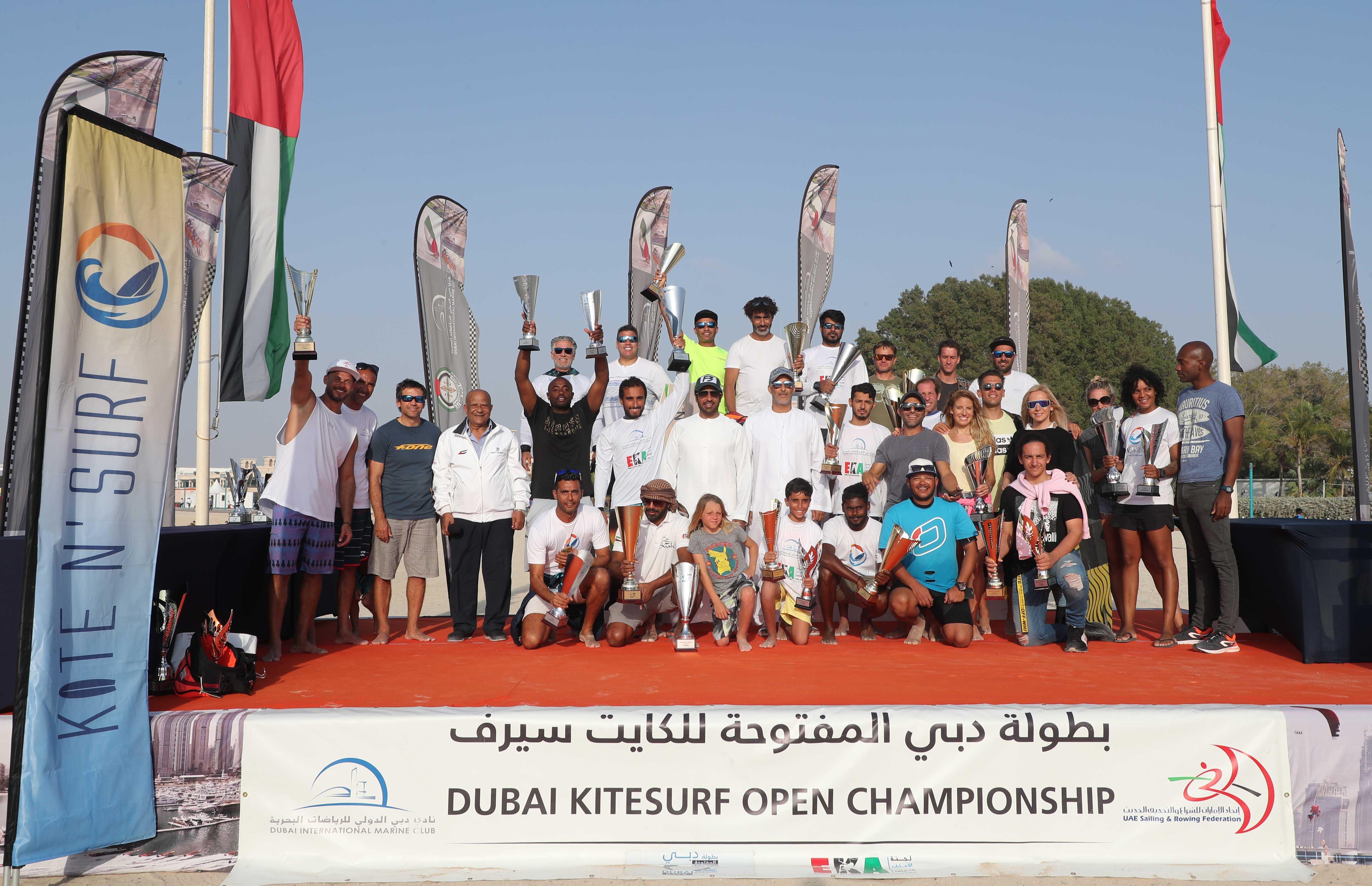 UAE Kitesurfer Stars catch the attention of the Public in Kite Beach