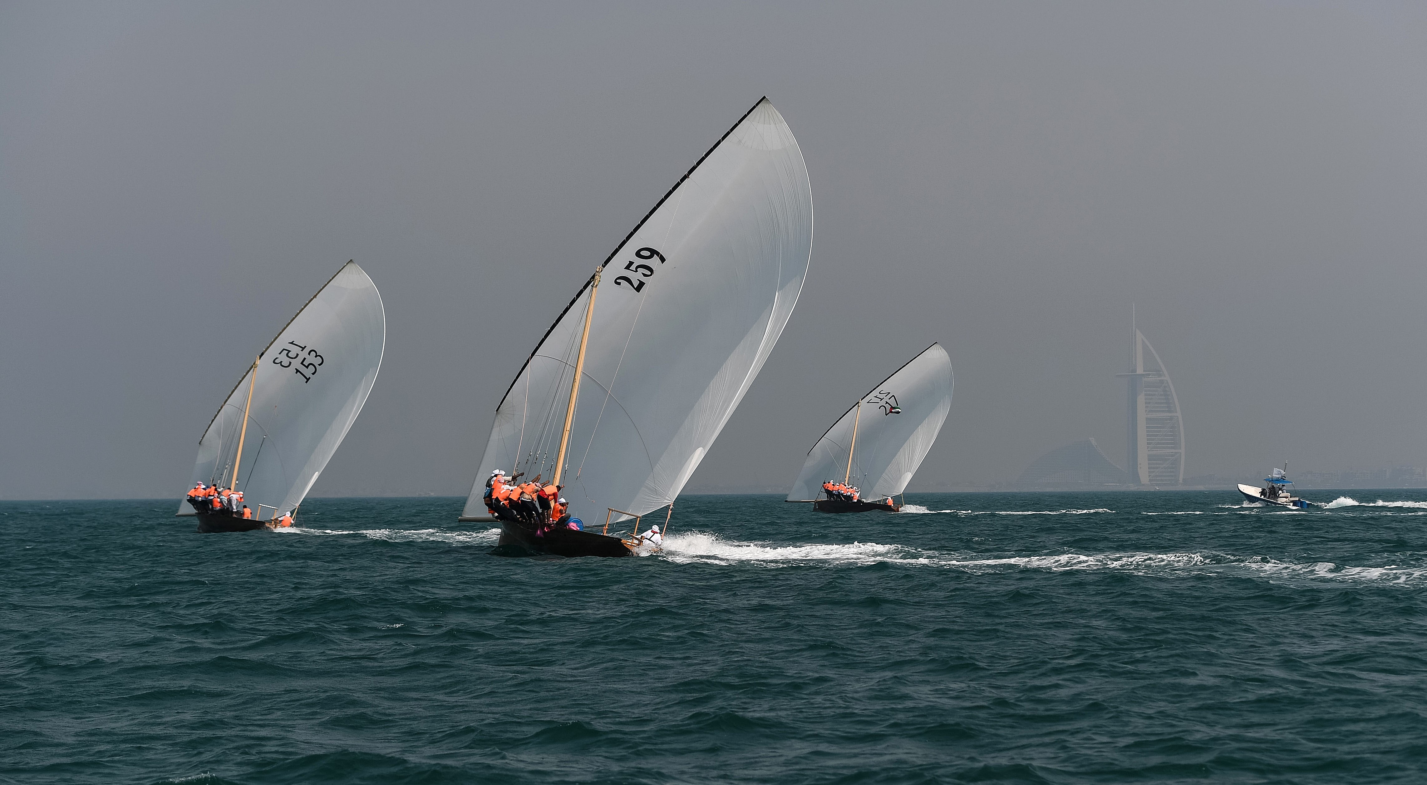 """Zilzal"" 217 champion of the 43ft Dhow Race Overall"