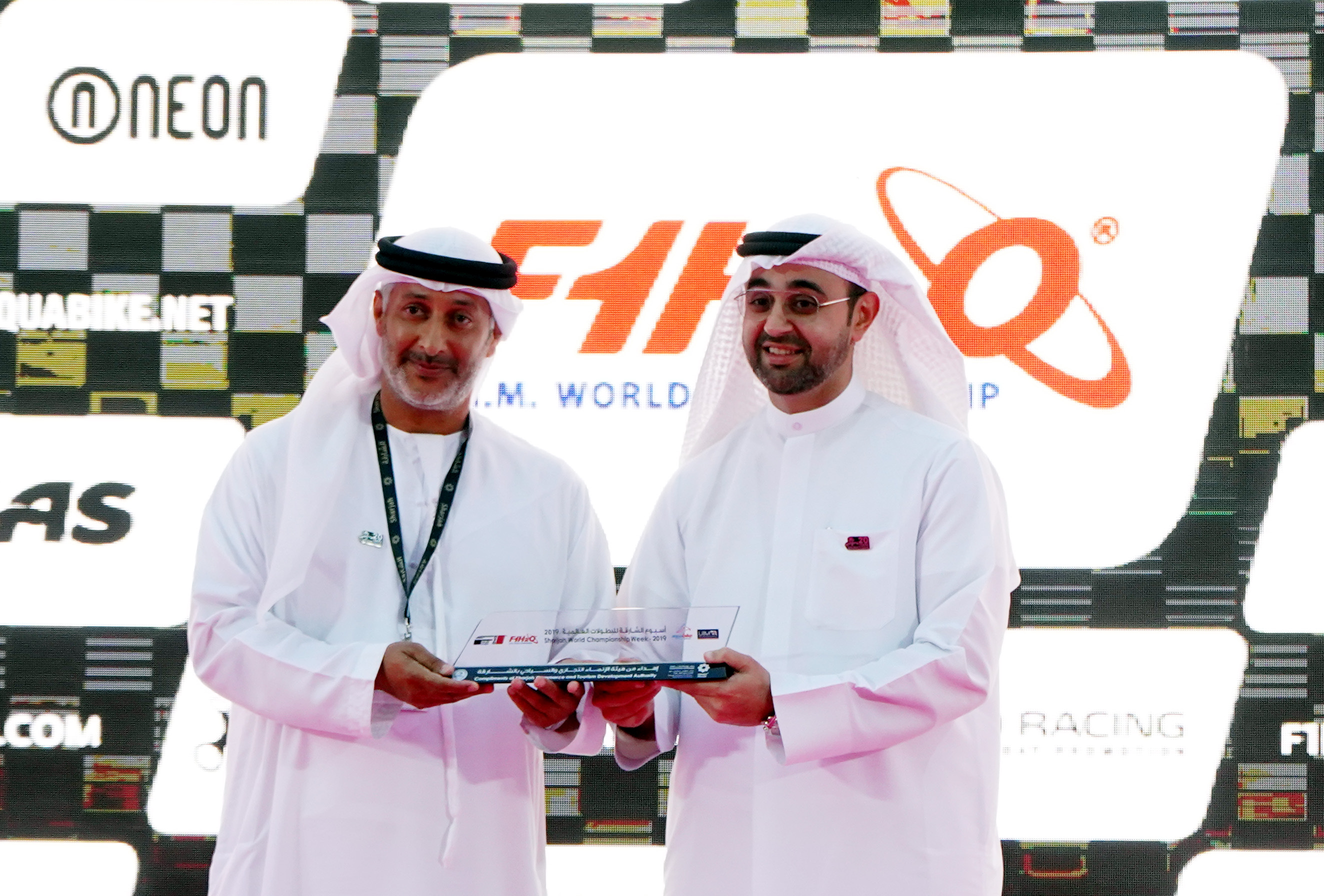 DIMC receives an organizational trophy in honor of the Sharjah World Championship Week
