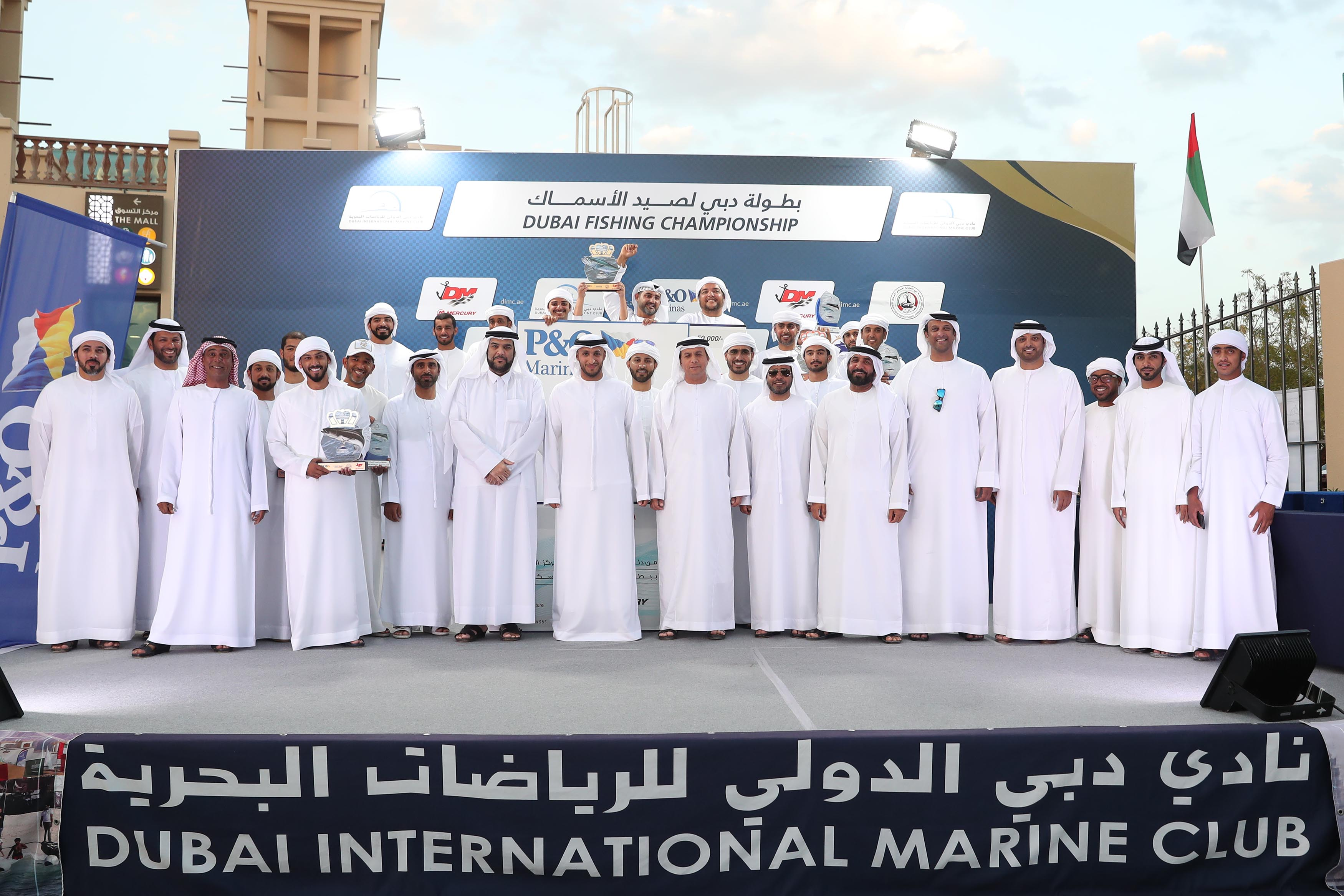 Al Muhairbi wins the Grand Prize for Kingfish in Dubai Fishing Competition
