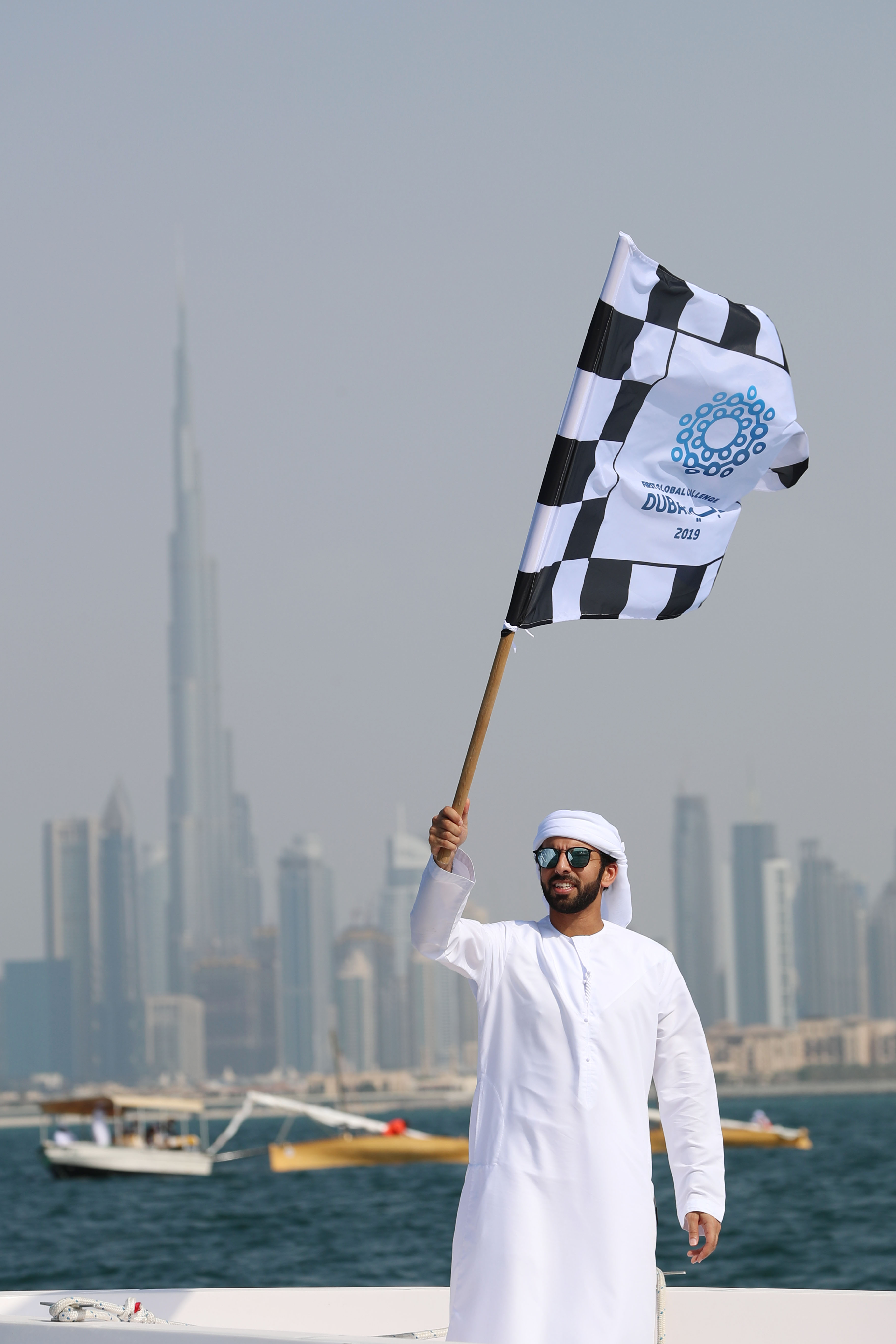 Blue Caravan sails on the shores of Dubai today to raise awareness of Ocean Clean-Up
