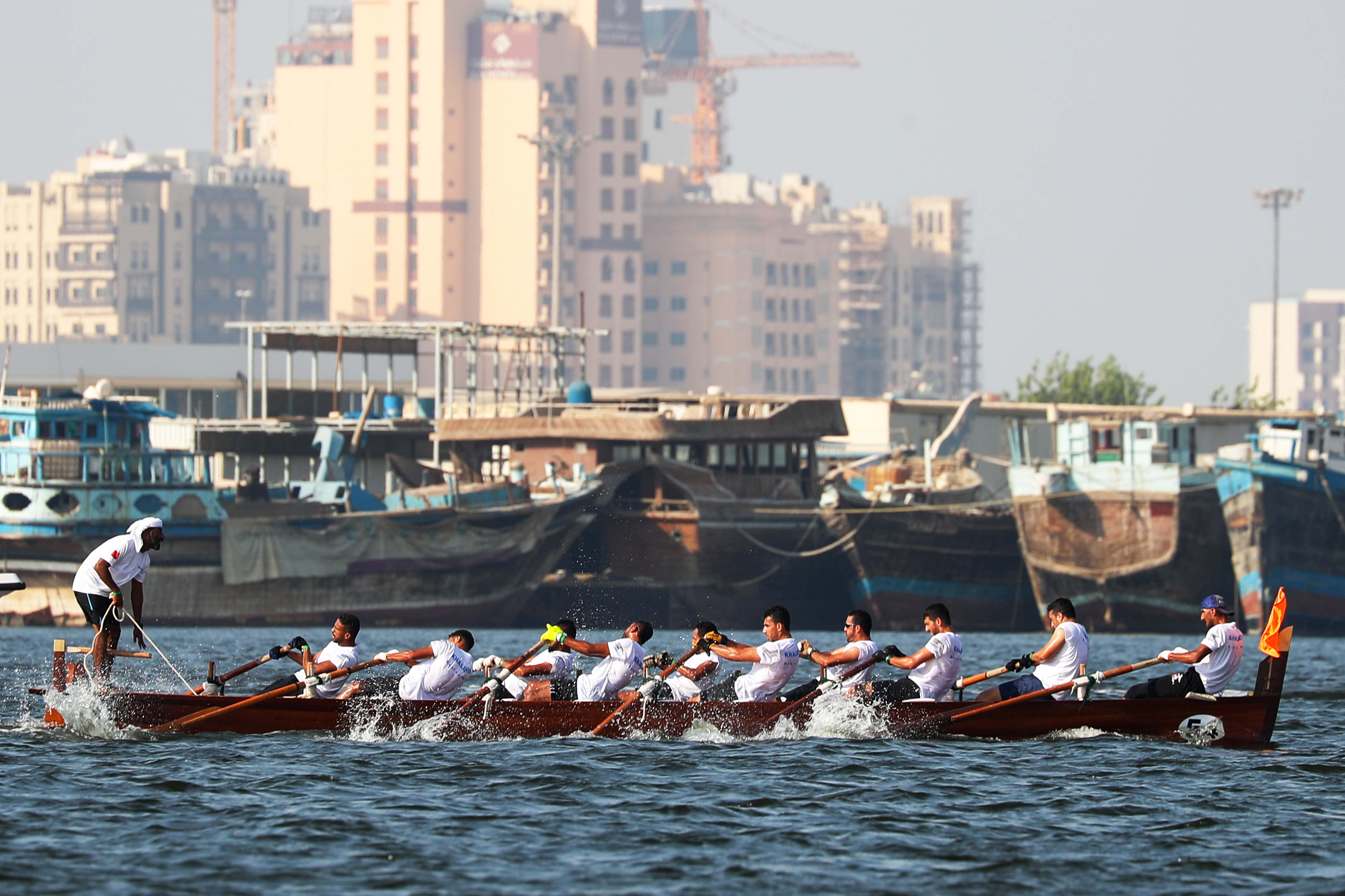Traditional Rowing Boats (30ft) will draw attention in Dubai Water Canal today