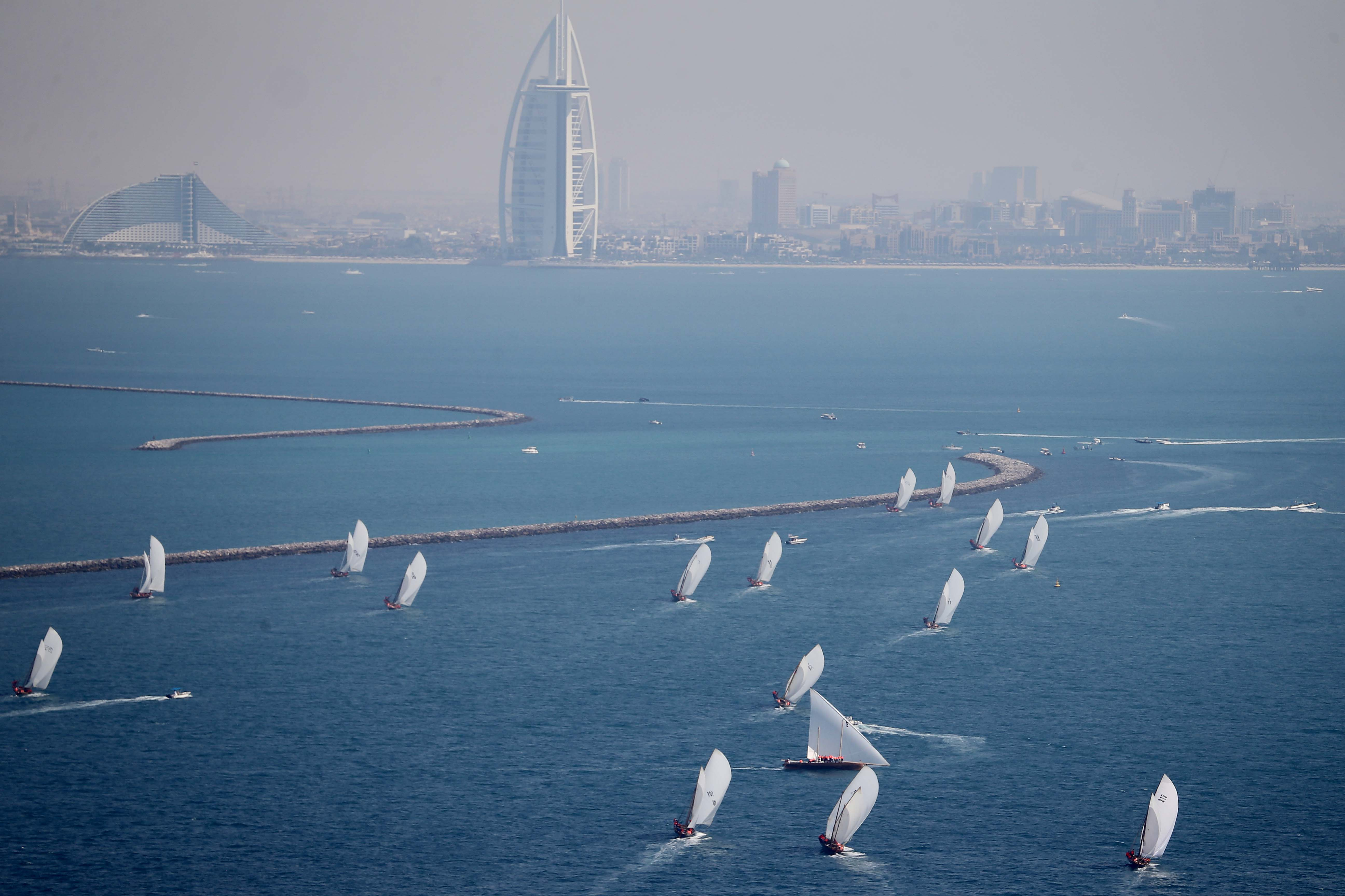 60ft Dubai Traditional Dhow Sailing Race on Saturday