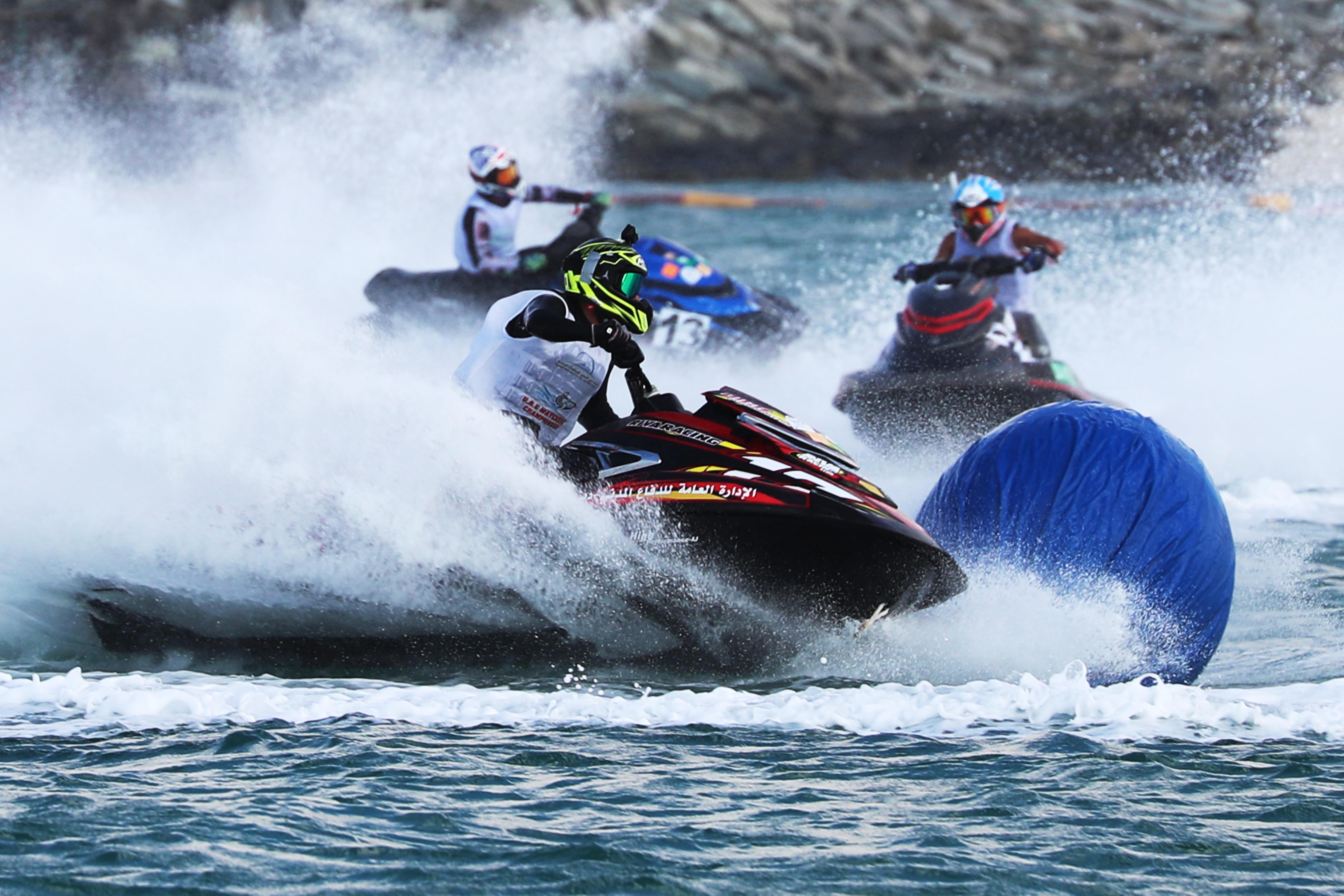 Dubai Aquabike Race at La Mer Beach on Saturday