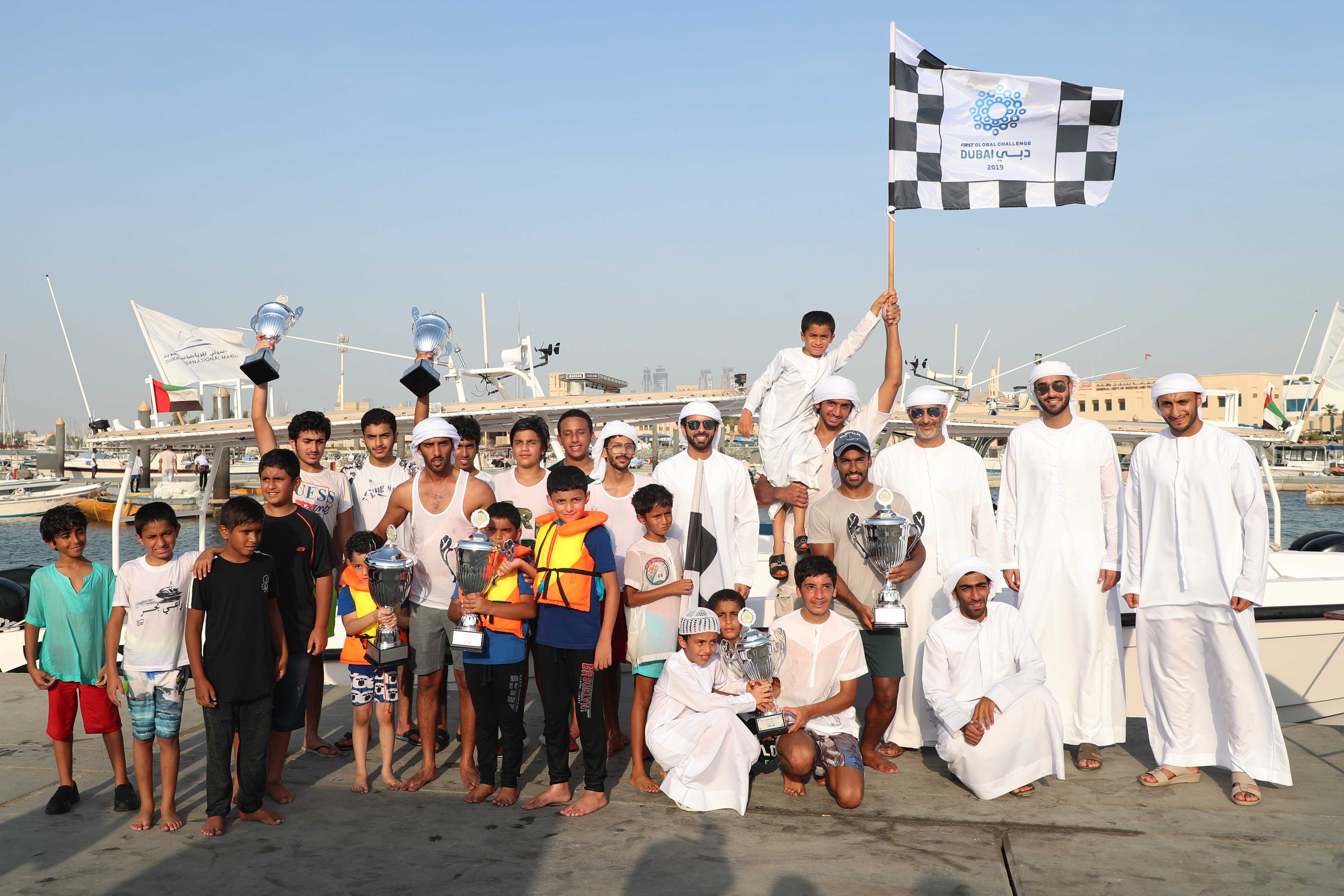 Al Asifa (118) and Al Fahad (79) Champion of the 22ft Dhow Race