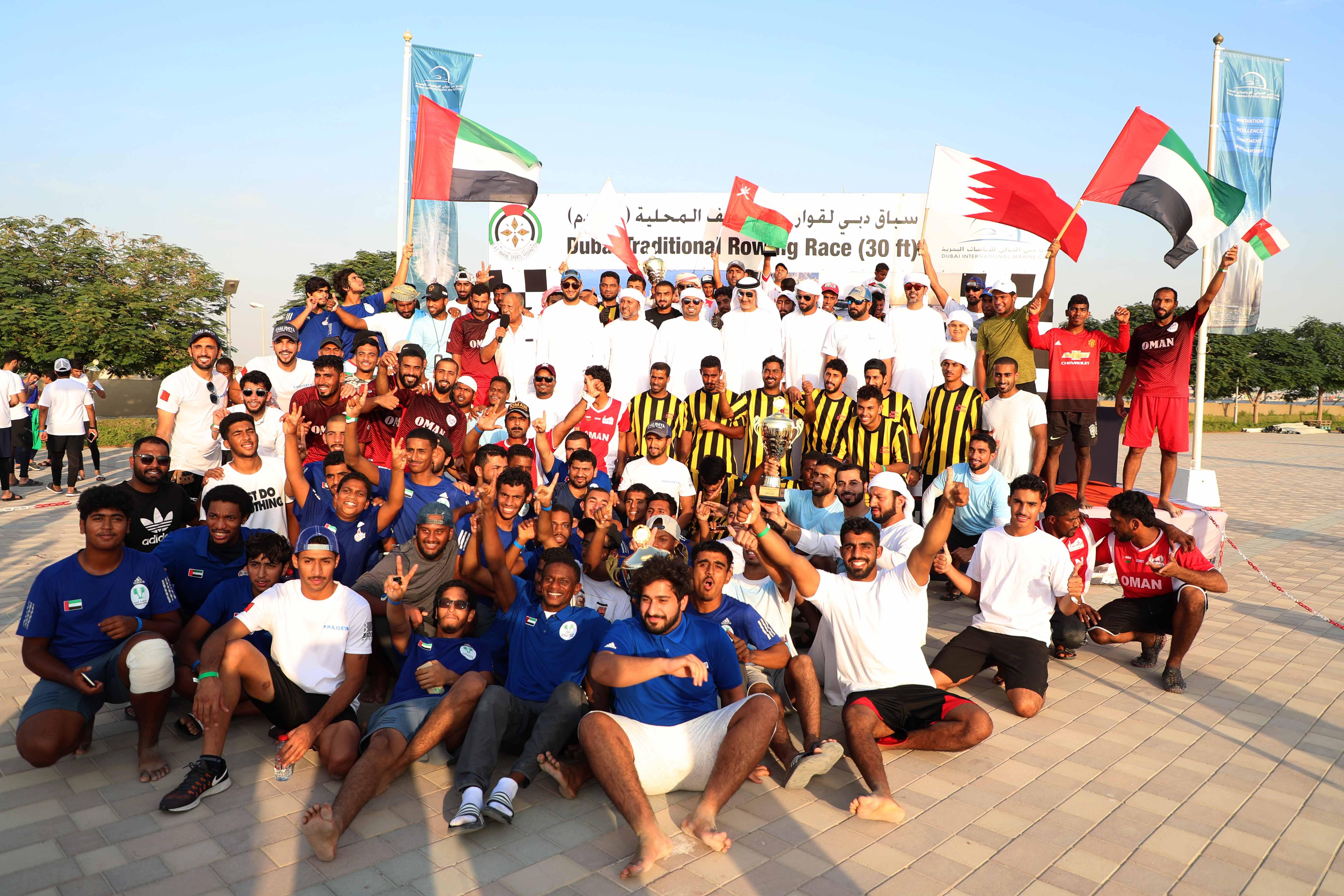 Al Tayar 60 and Oman 44 Champion of the Rowing Race - Heat 2