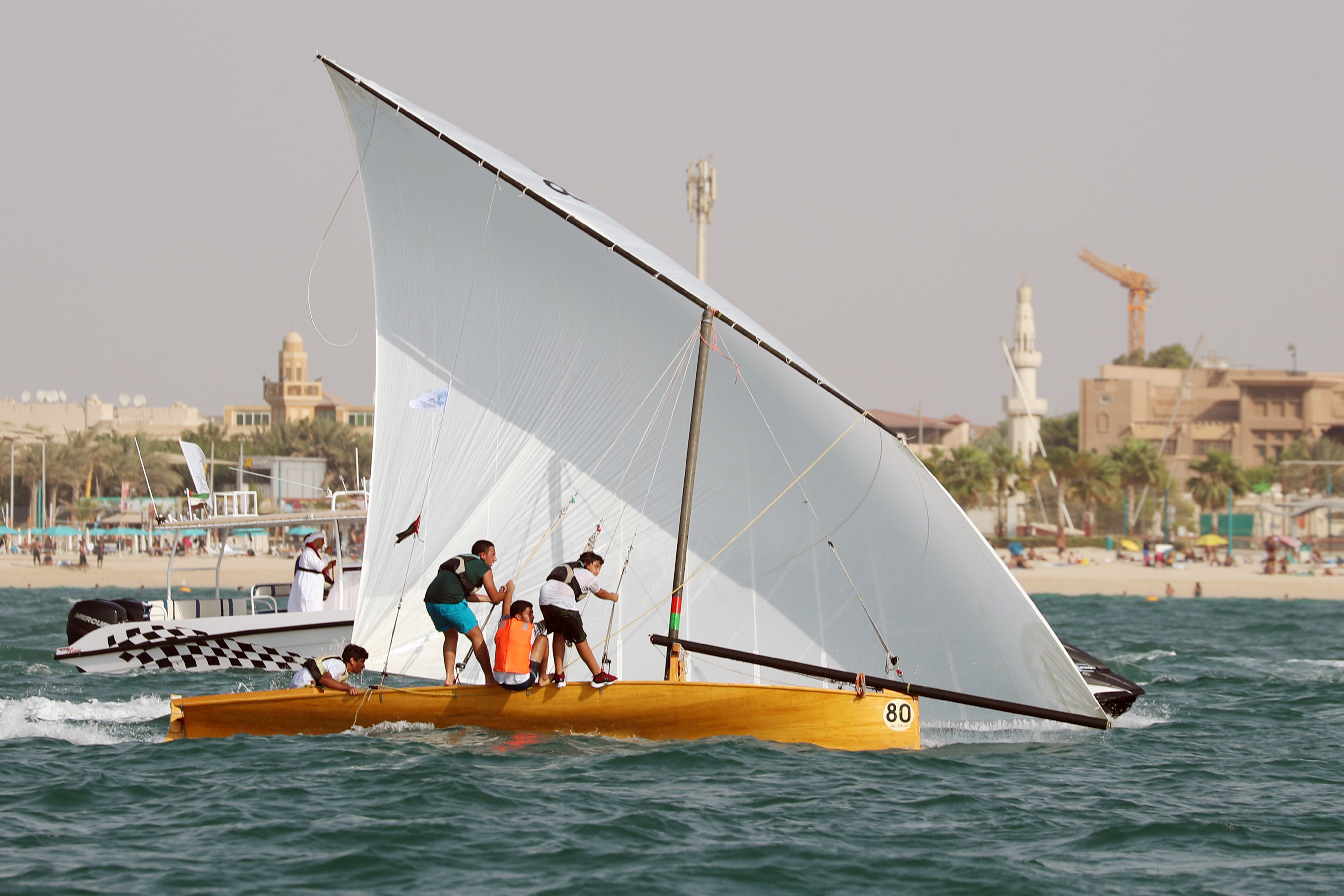 Al Serb 80 topped the 22ft Dhow Race Overall