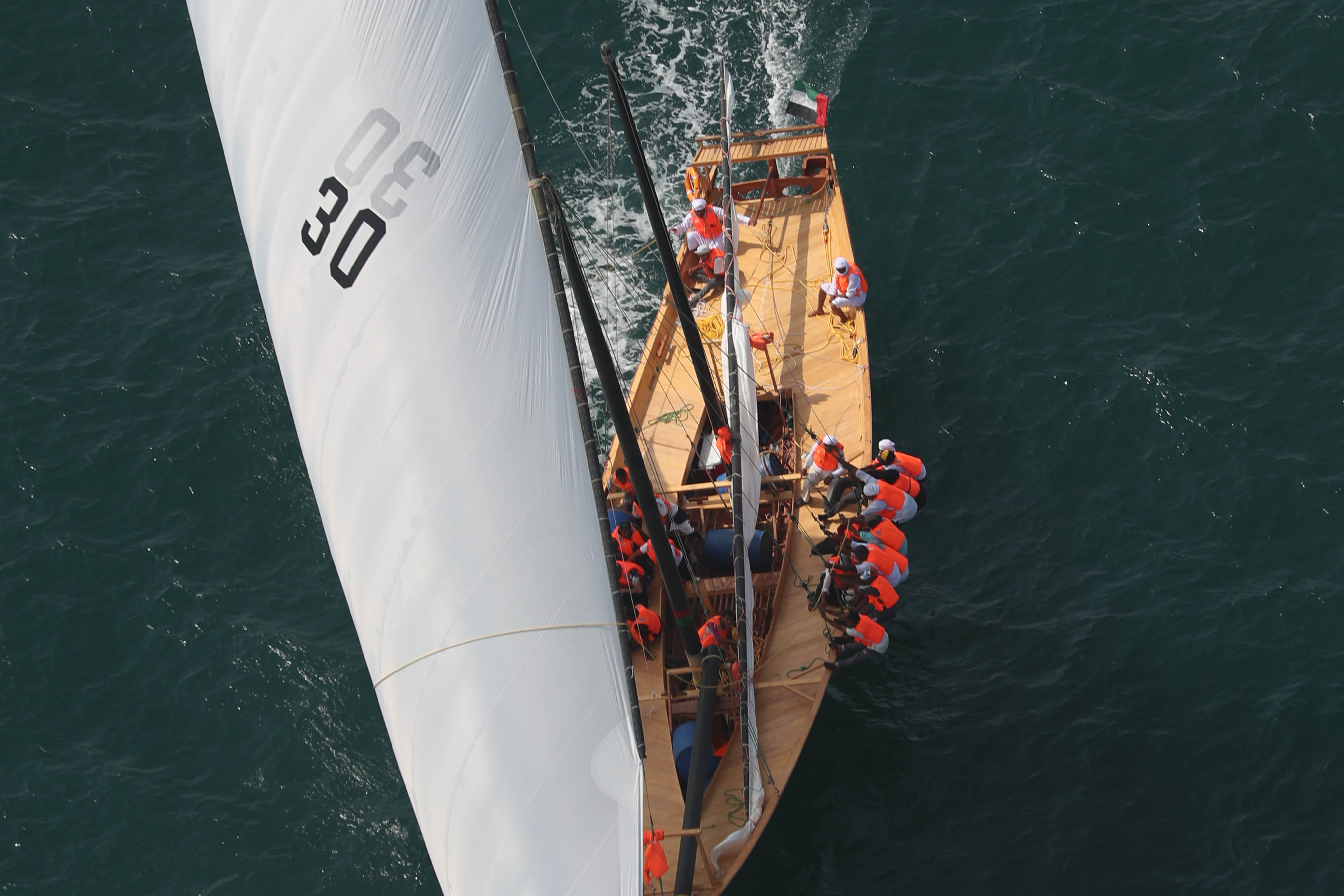 "Al Adeed ""30"" won the 60ft Dubai Traditional Dhow Sailing Race"