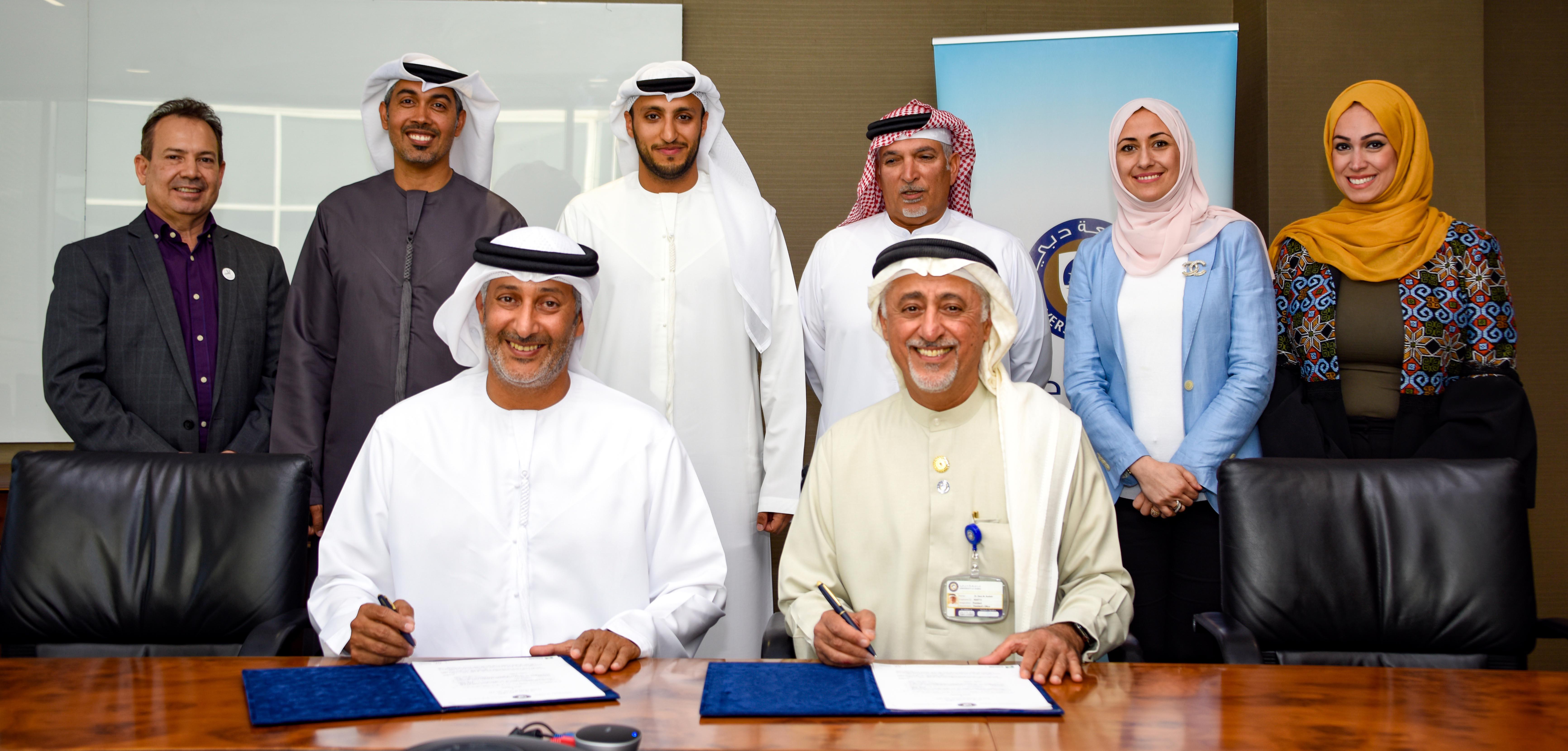 Cooperation agreement signed between University of Dubai and Dubai International Marine Club