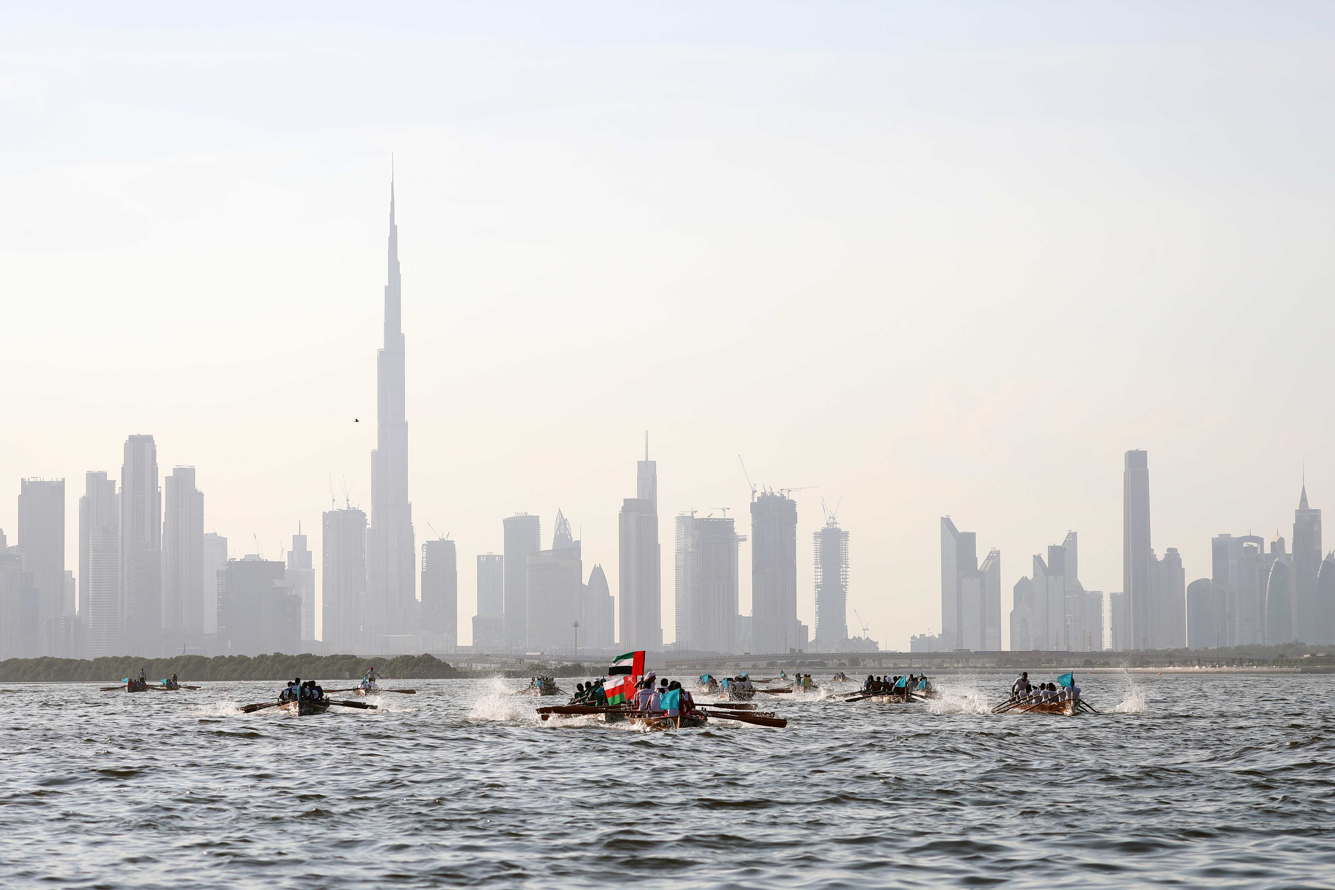 Bahrain and Oman Boats Rank First in the Second Rowing Race