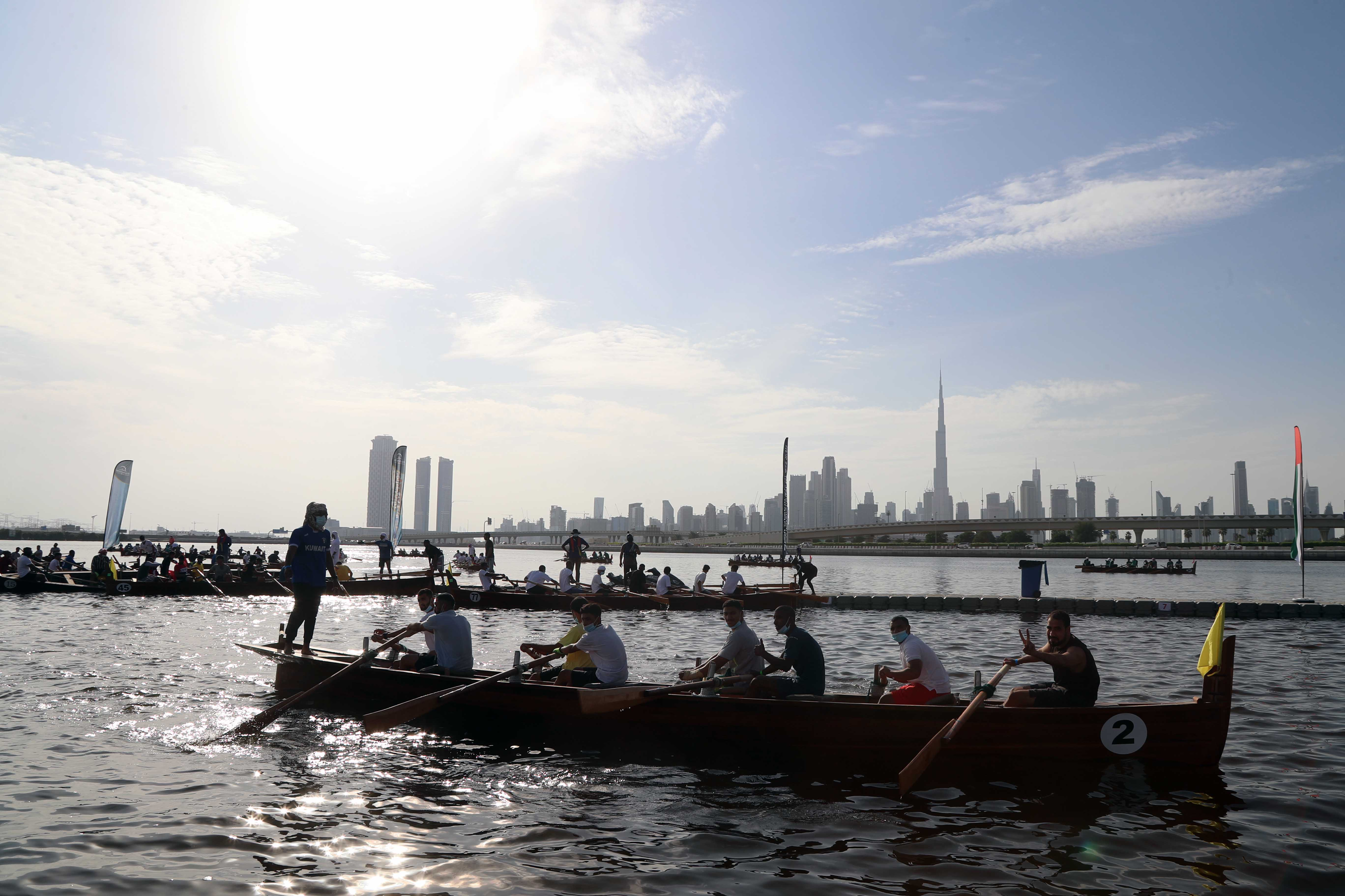40 Boats Compete in the Second Traditional Rowing Race