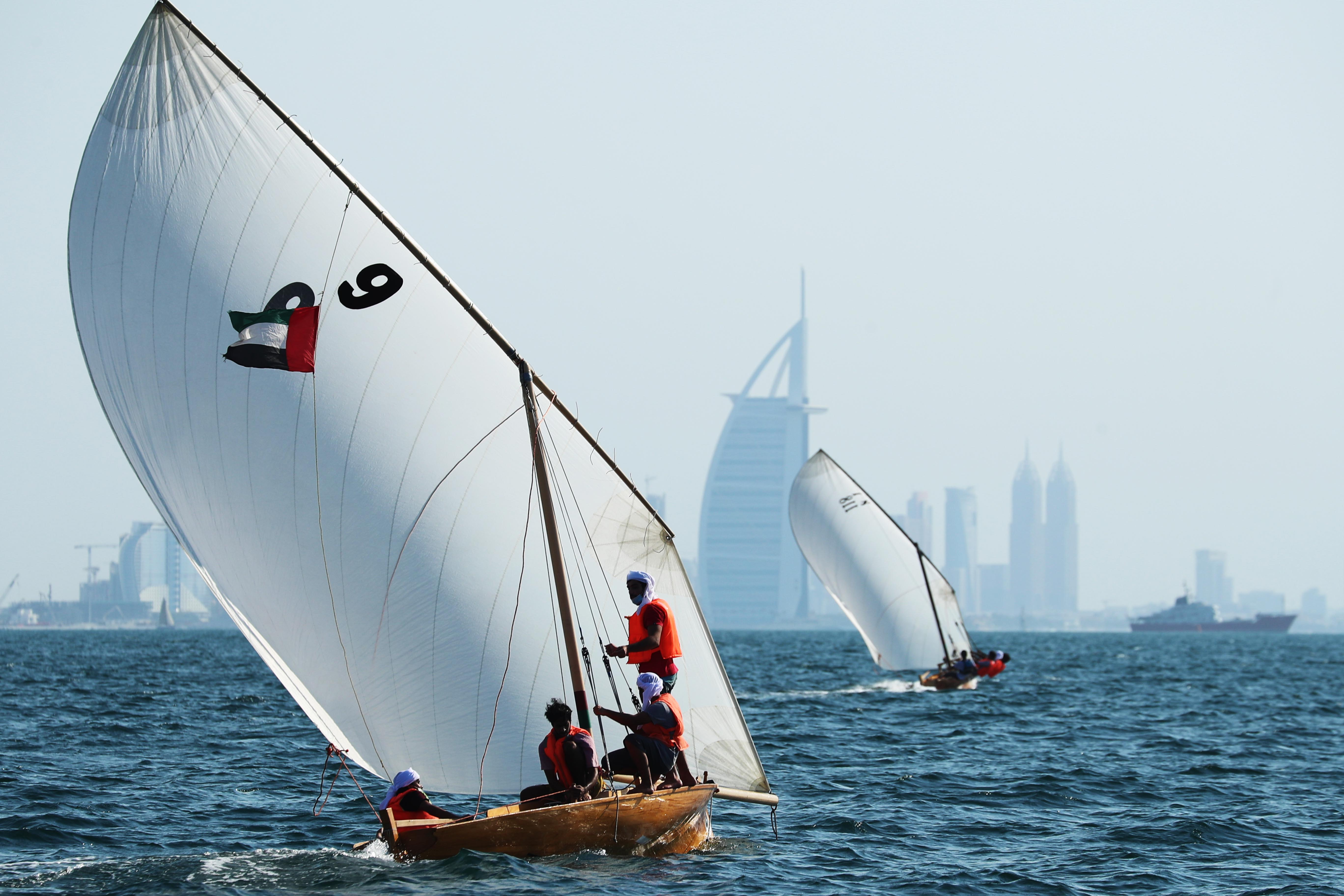22ft Dhow Sailing Race in Jumeirah on Thursday
