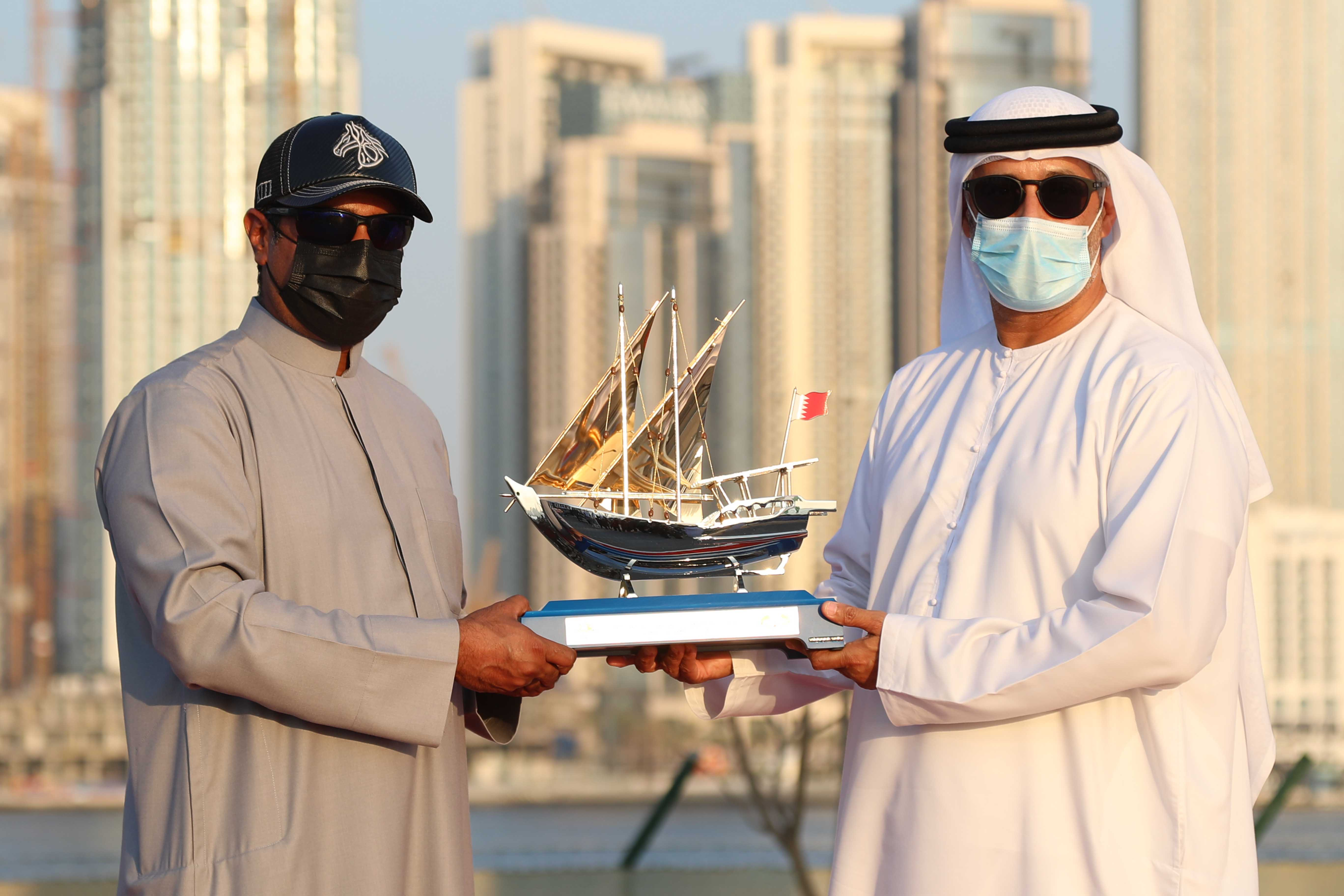 The Bahraini Olympic Committee honors (DIMC) and Mohammed Hareb