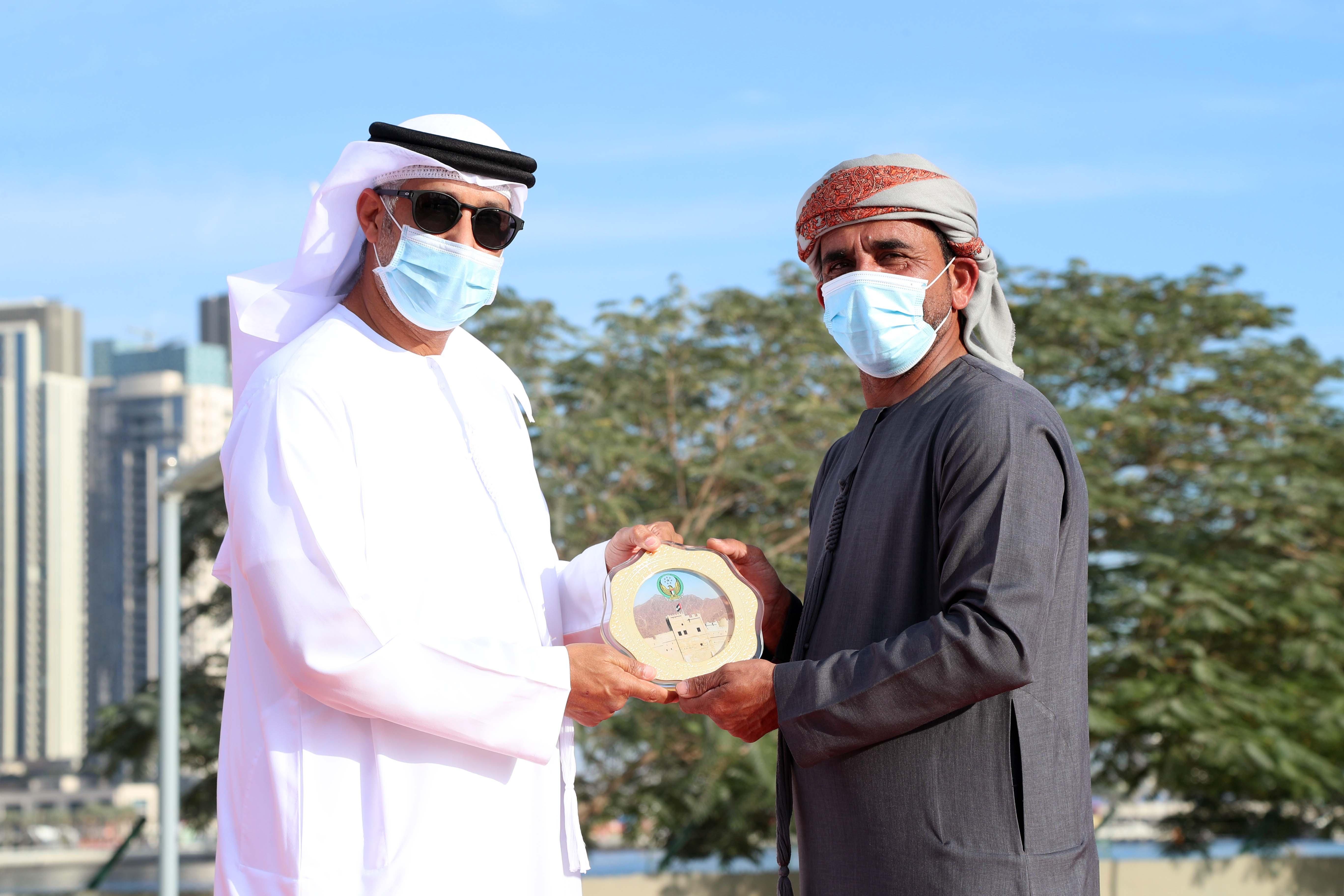 Fujairah Police honors the  Dubai International Marine Club