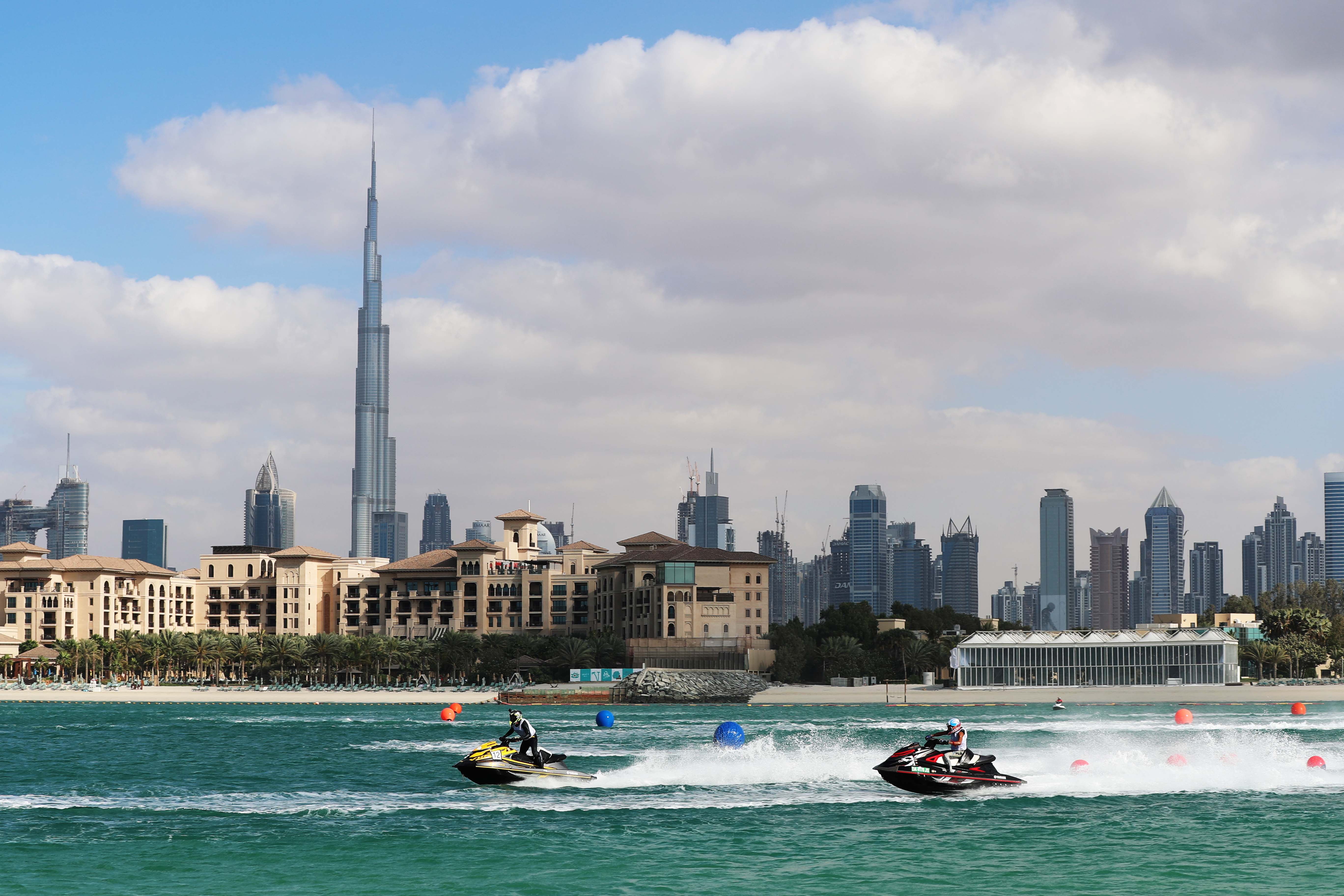 Dubai Aquabike Race at Al Shurooq Beach on Saturday