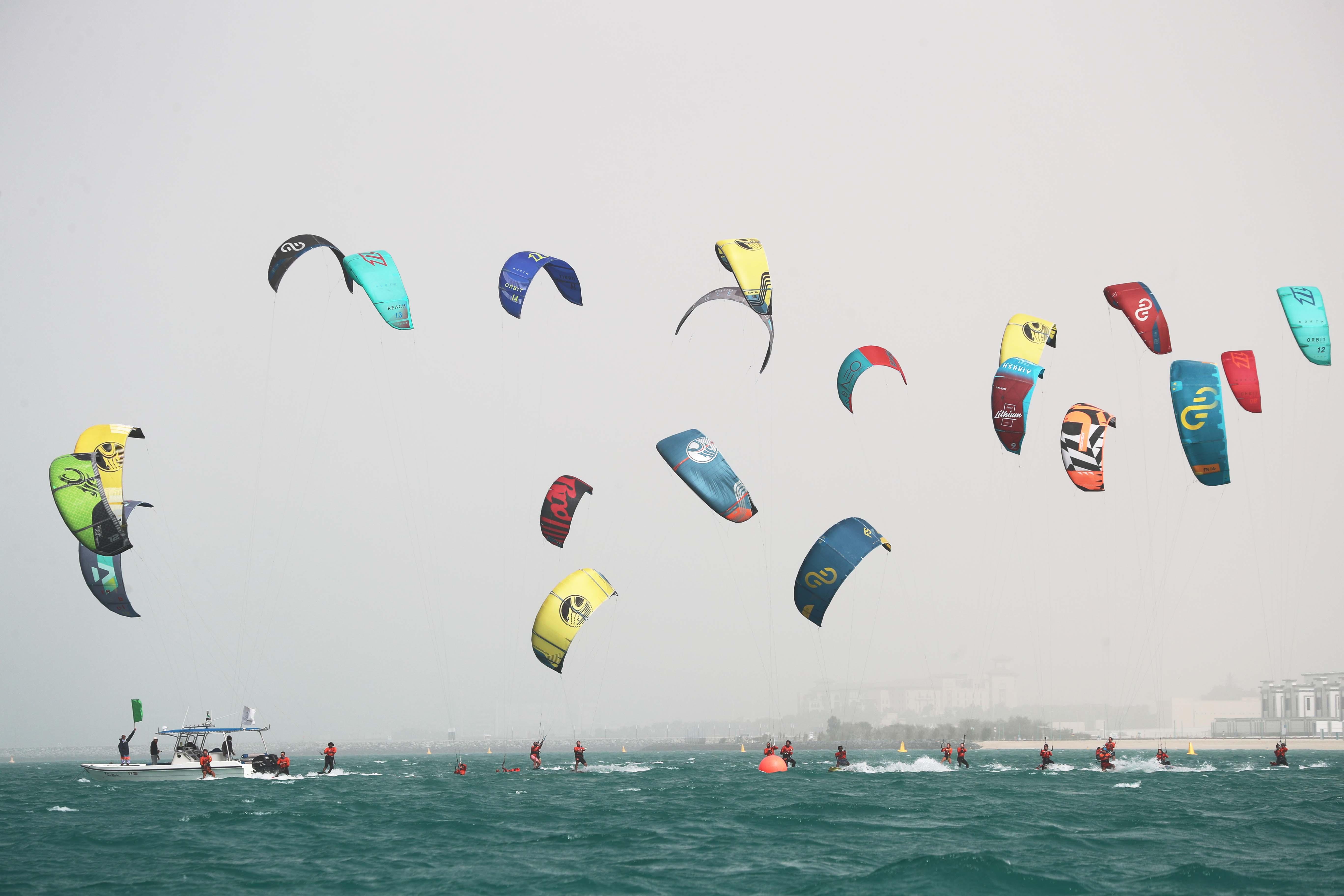 Al Mansoori and Al Falasi are the stars of Dubai Kitesurf Open
