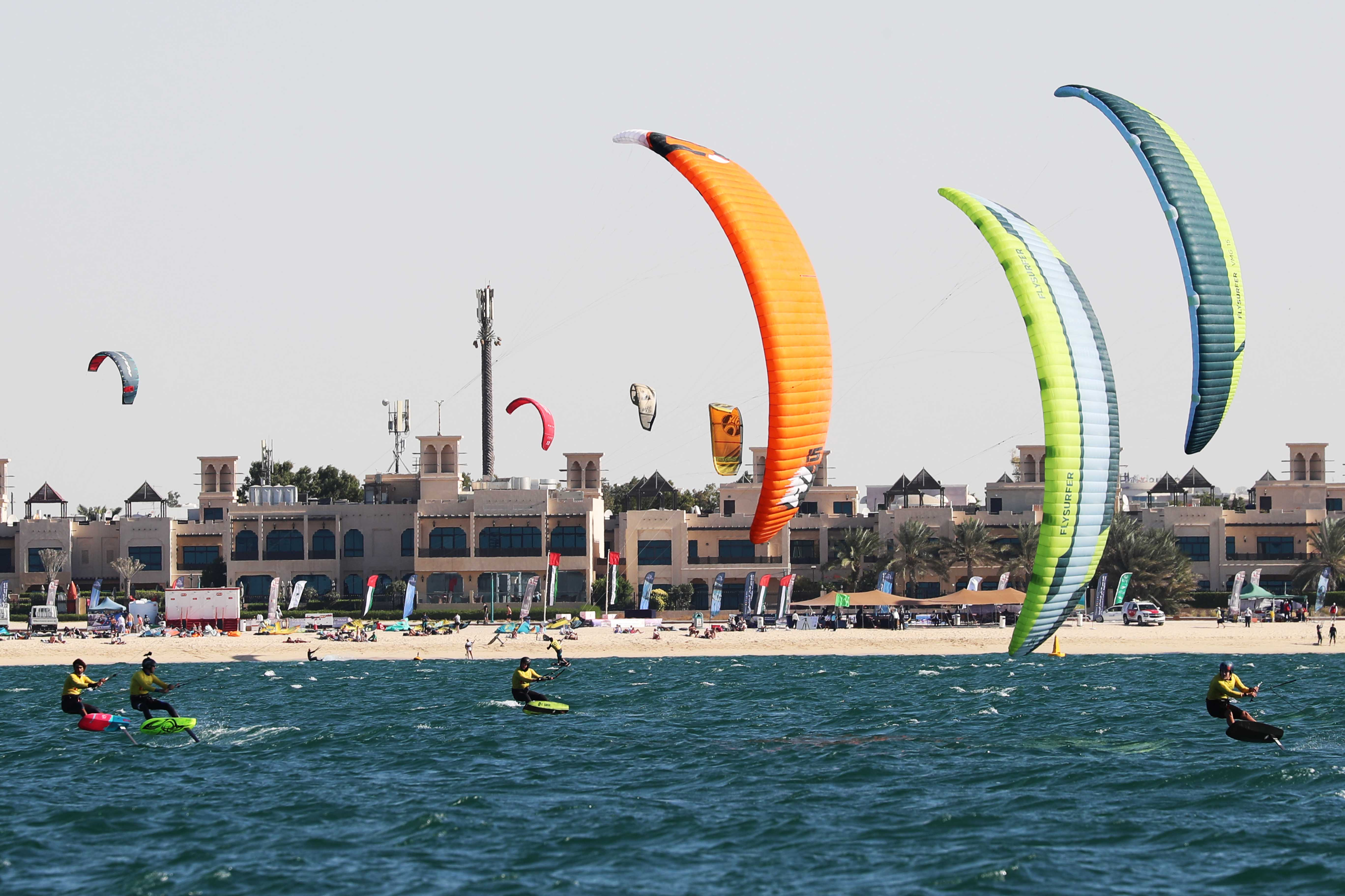 Kitesurf attracts attention in Nessnass Beach today & tomorrow