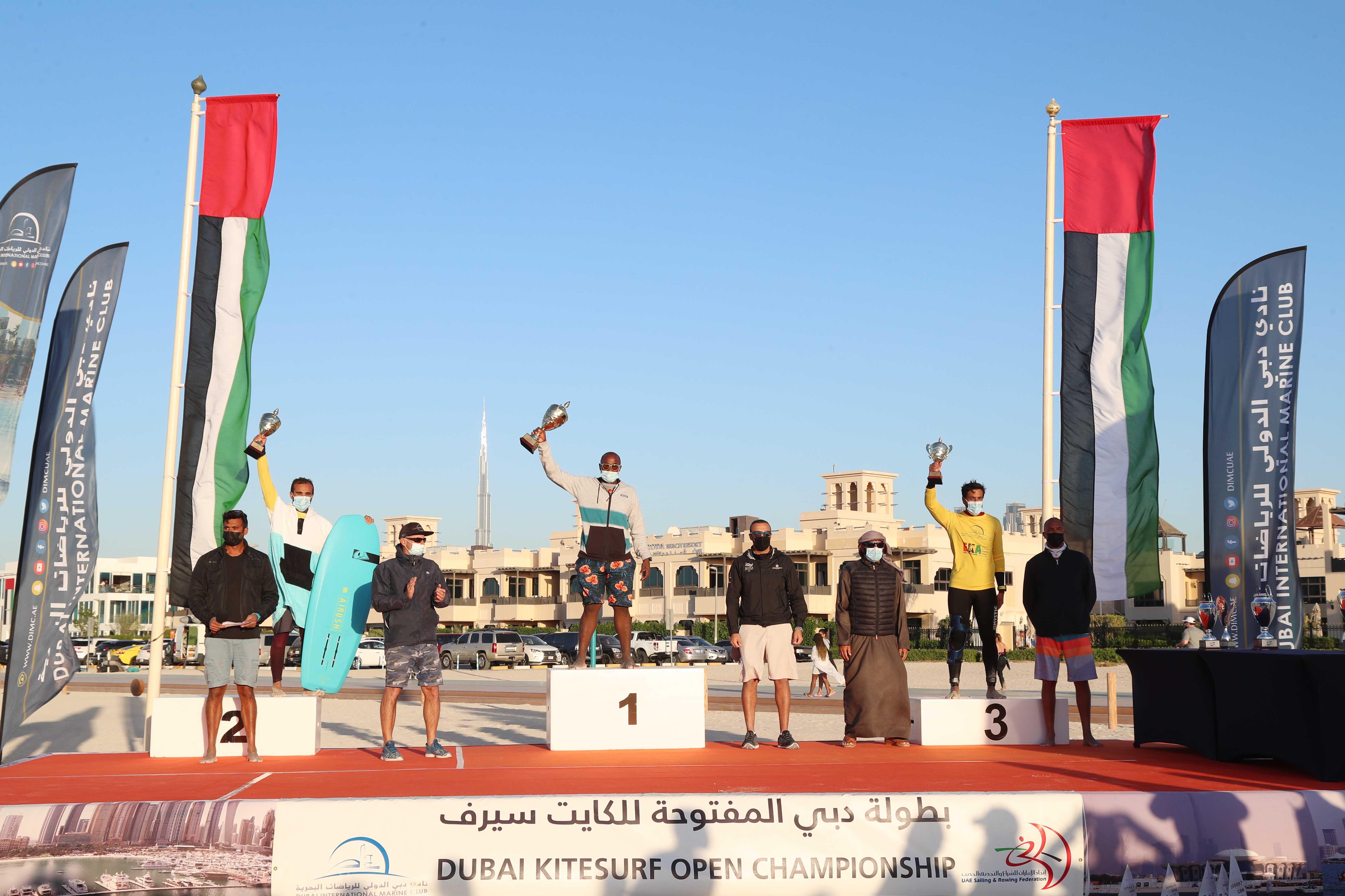 Suhail Al Marri shines at the conclusion of the Dubai Kitesurf Open