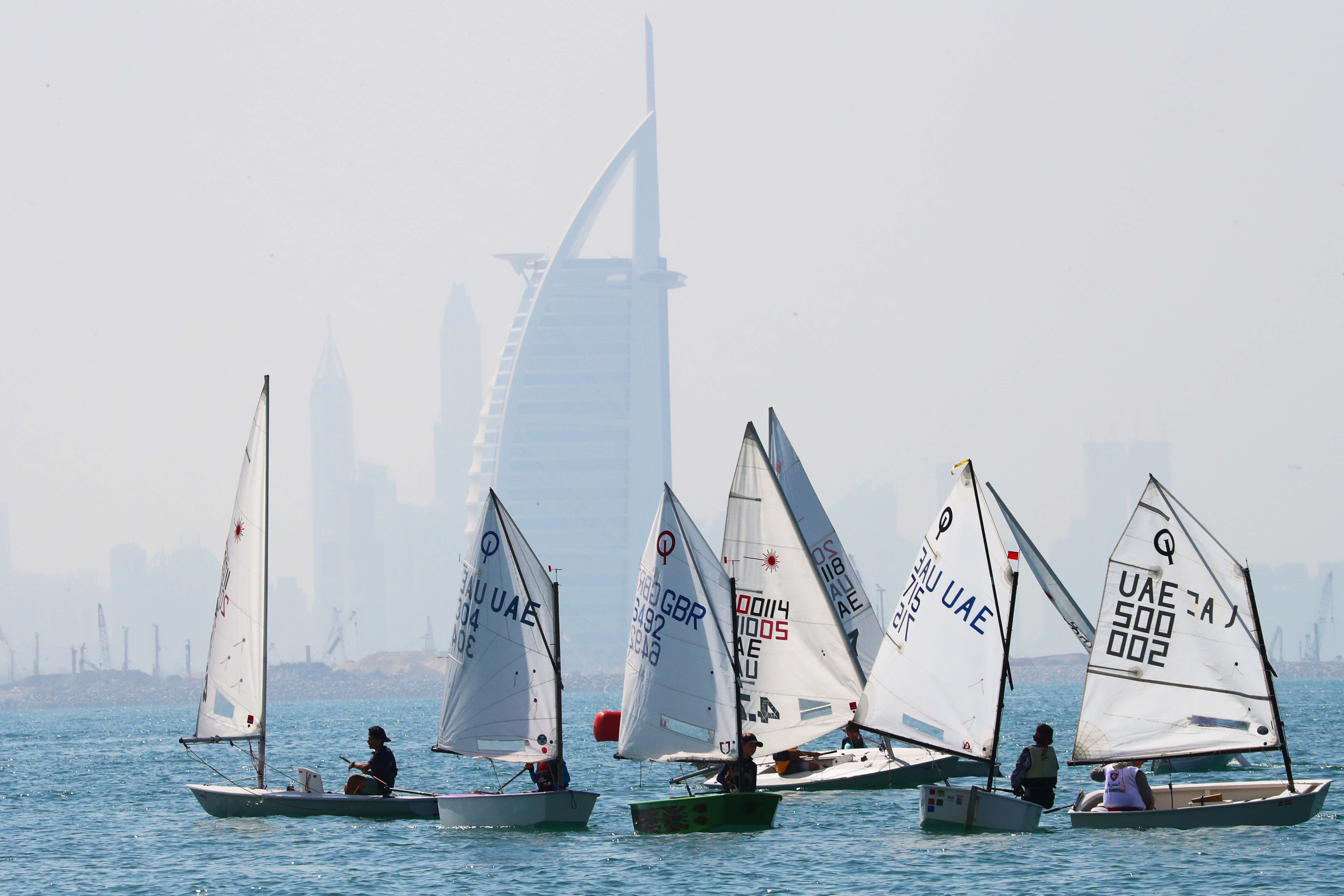 First Round of Dubai Junior Regatta today