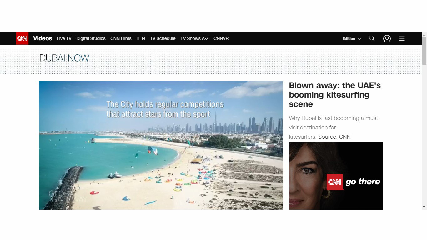 CNN highlights the booming Kitesurfing in Dubai