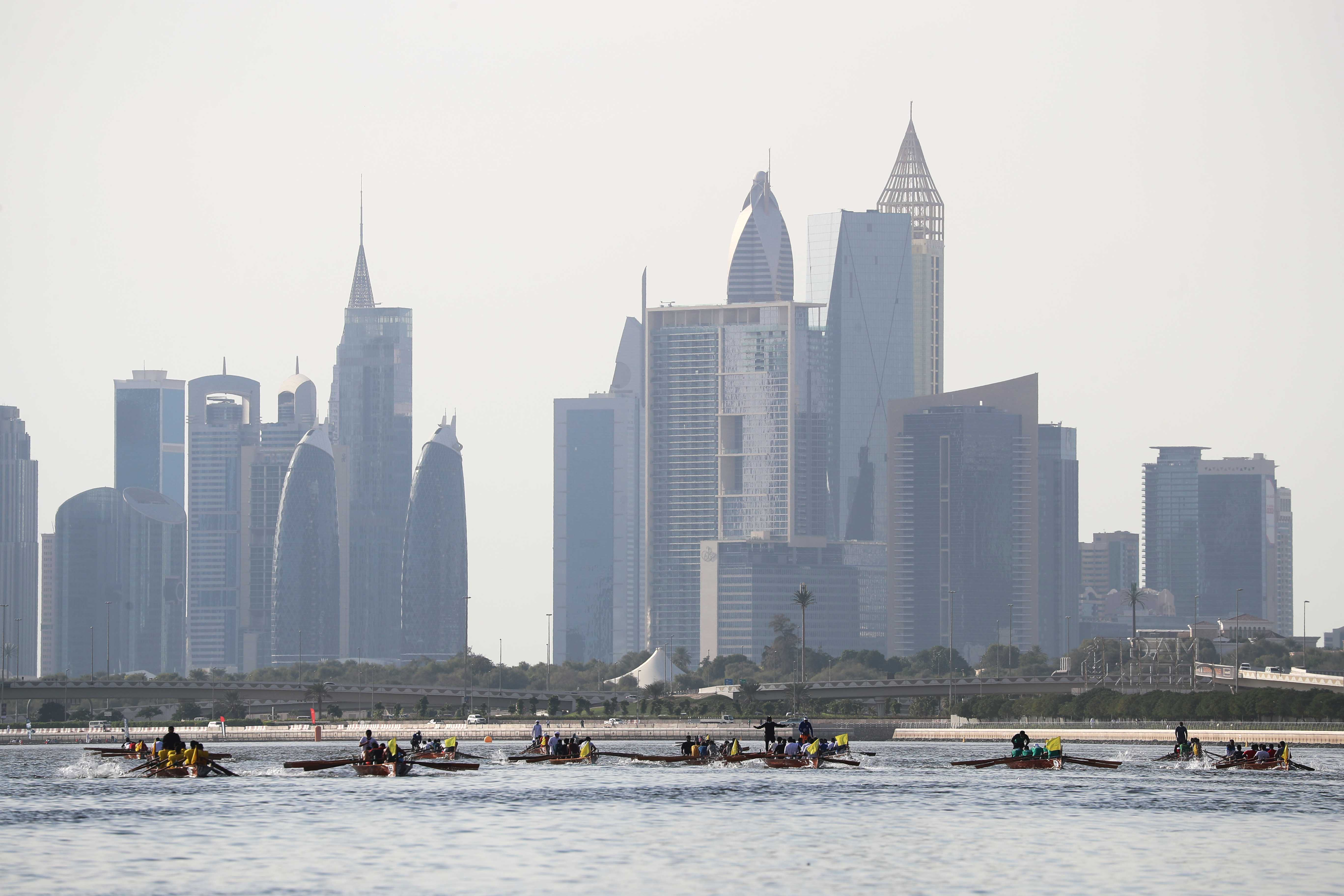 Bahrain and Oman boats Shine at the Opening Round of the Rowing Season