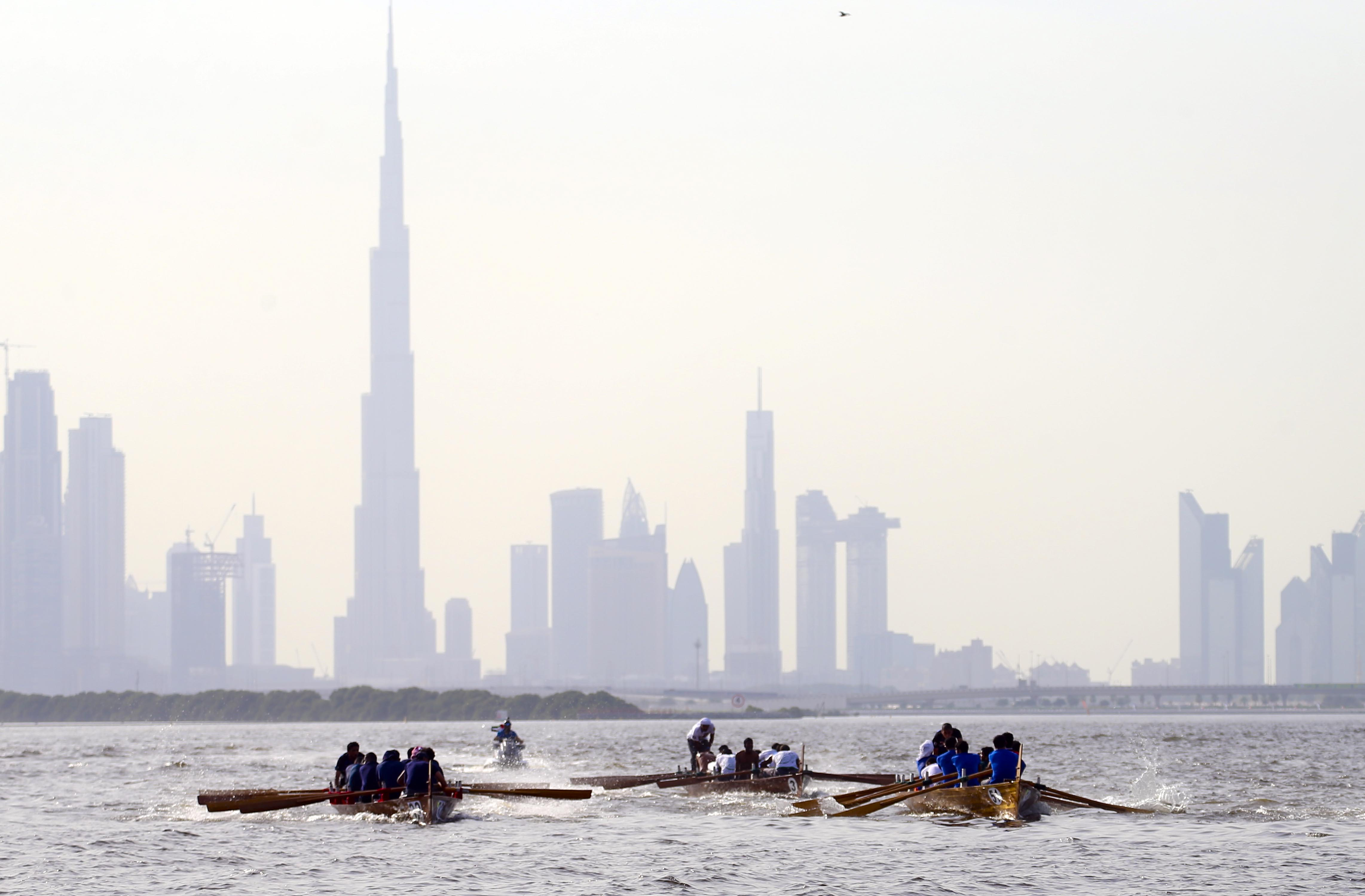 First Round of the Dubai Traditional Rowing Race on Friday