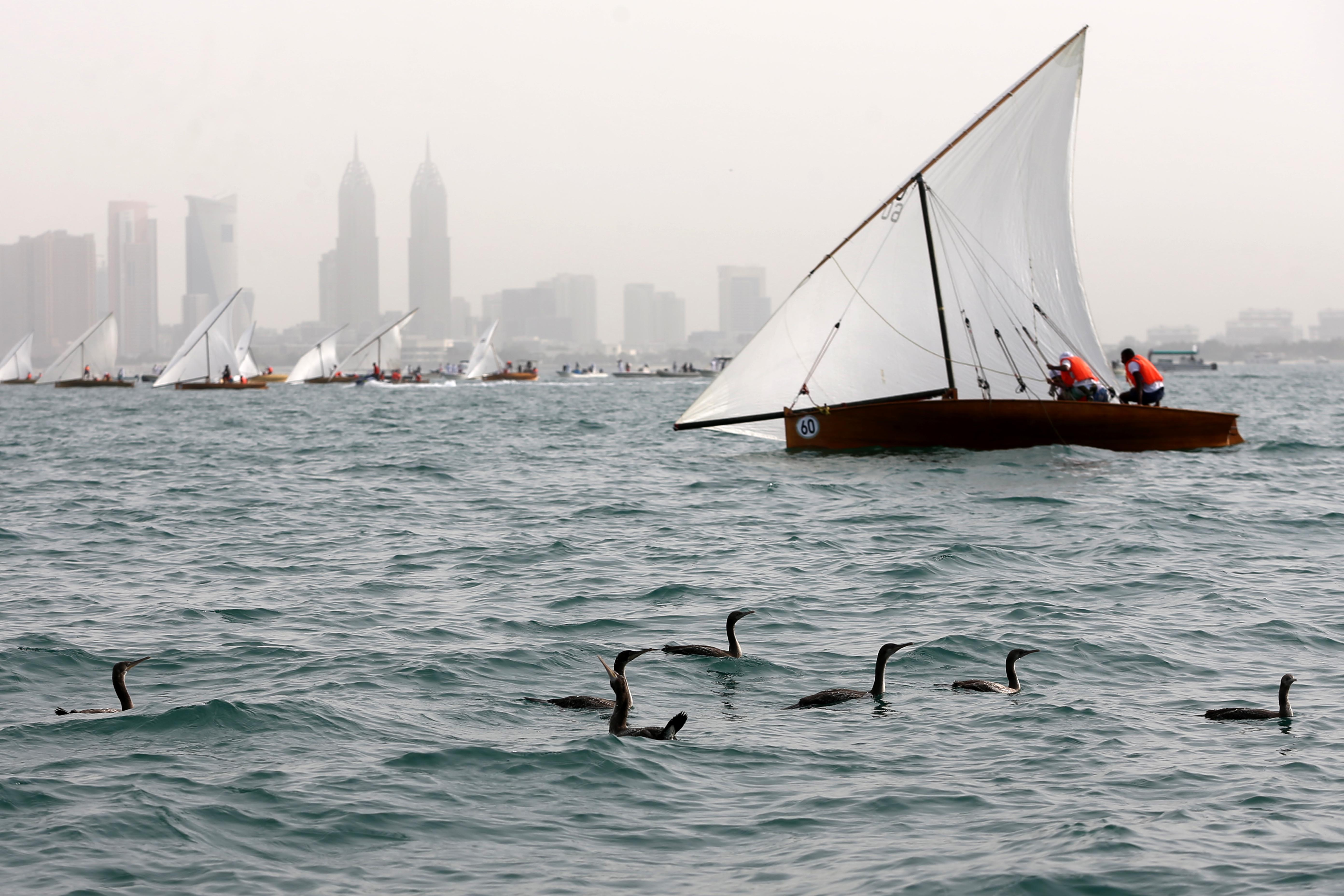 Launching of the 22ft Dhow Sailing Race in Jumeirah Beach