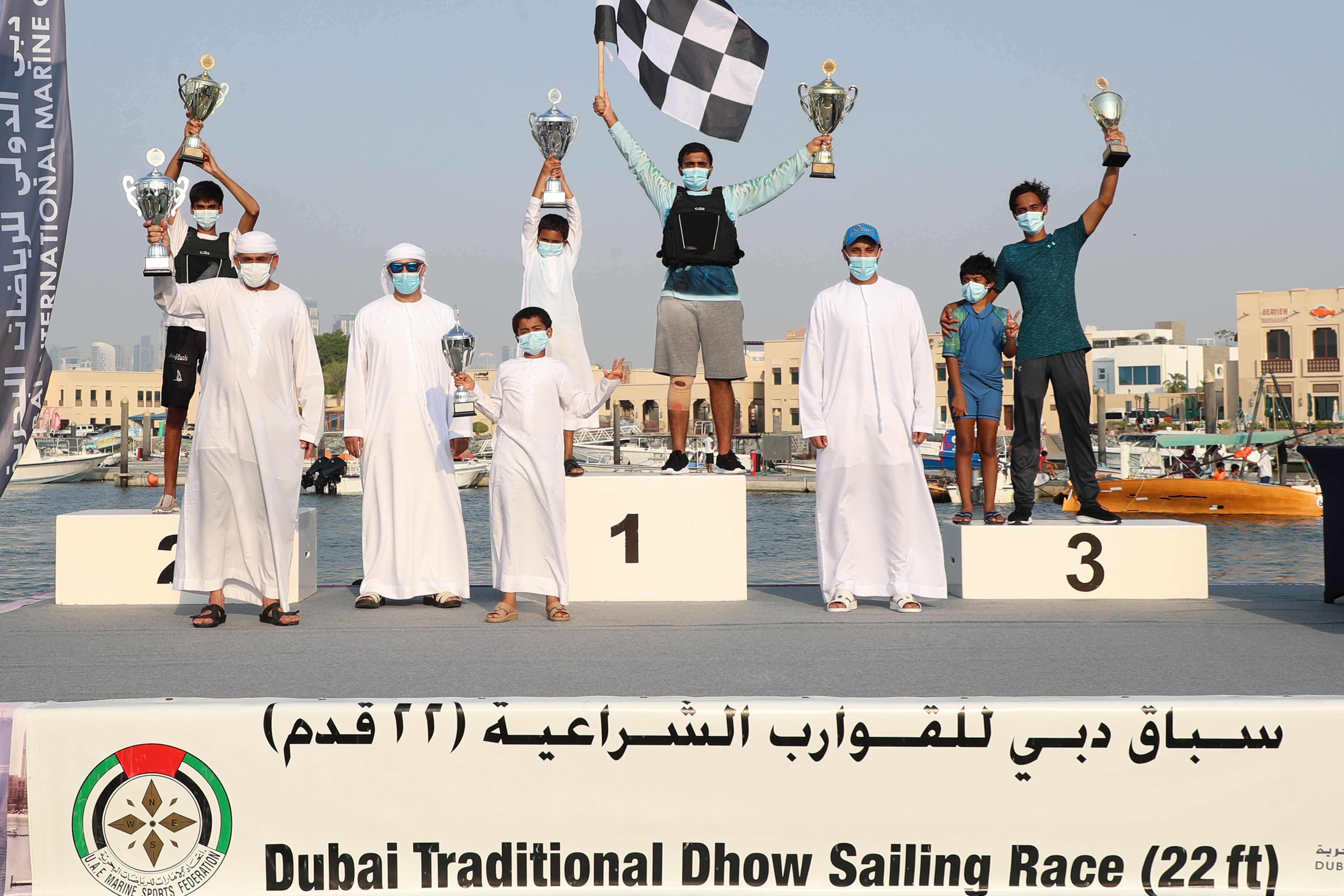 (Dahis 18 ) Champion of the 22ft Dhow Race in Youth Category