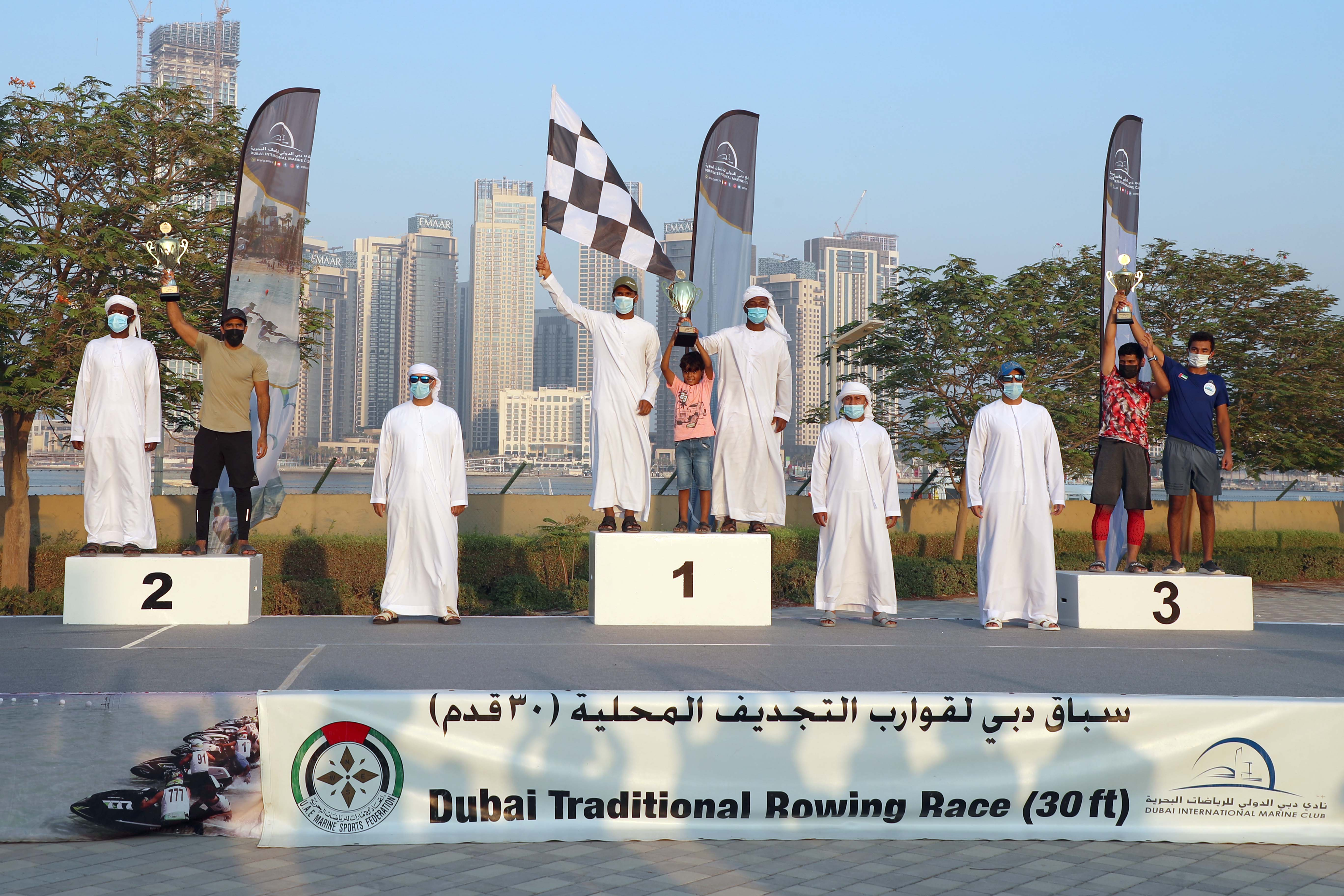 Ajman 60 Topped the First Round in Traditional Rowing Race