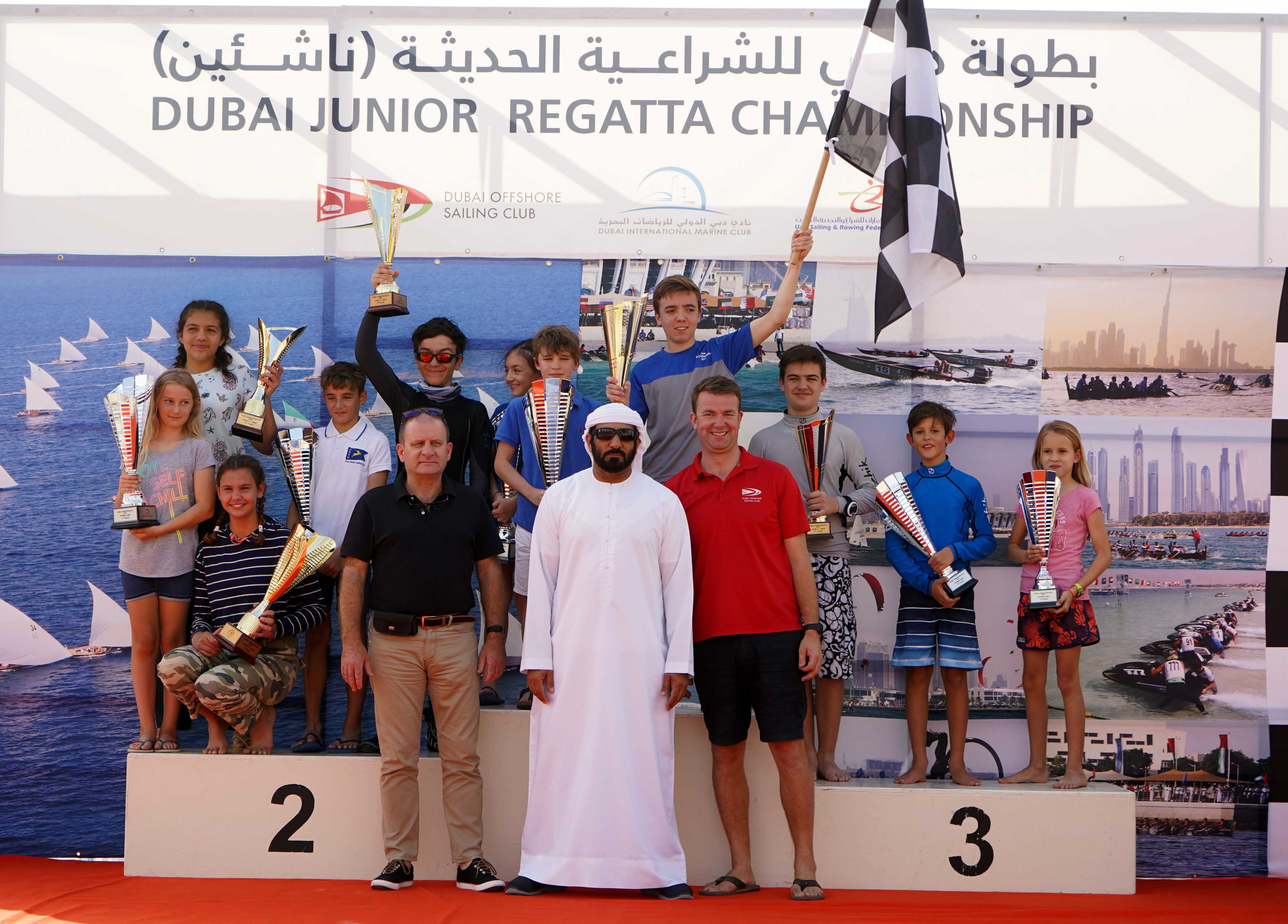 Great success for Third Round of the Dubai Junior Regatta
