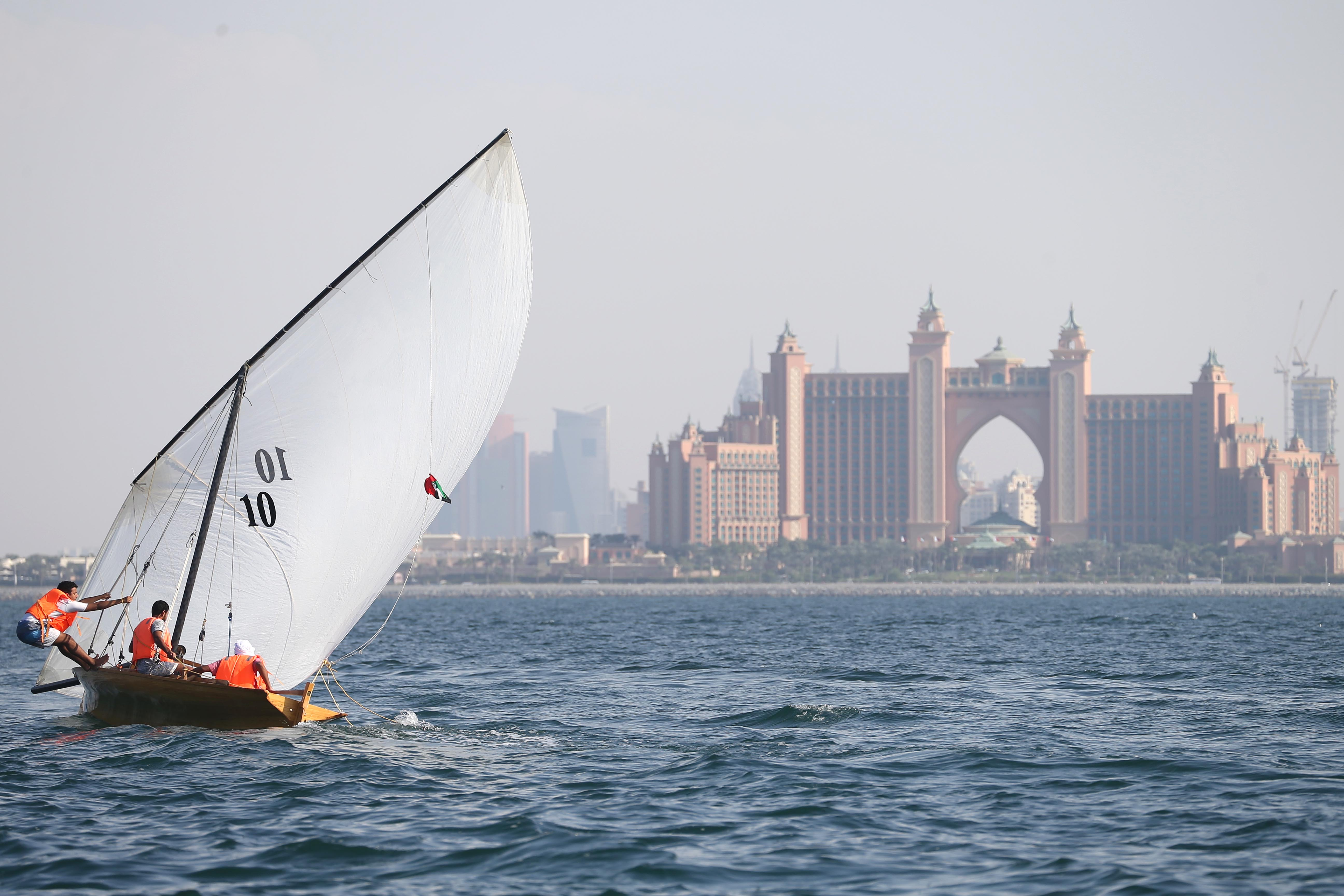 22ft Dubai Traditional Dhow Sailing Race in Jumeirah today