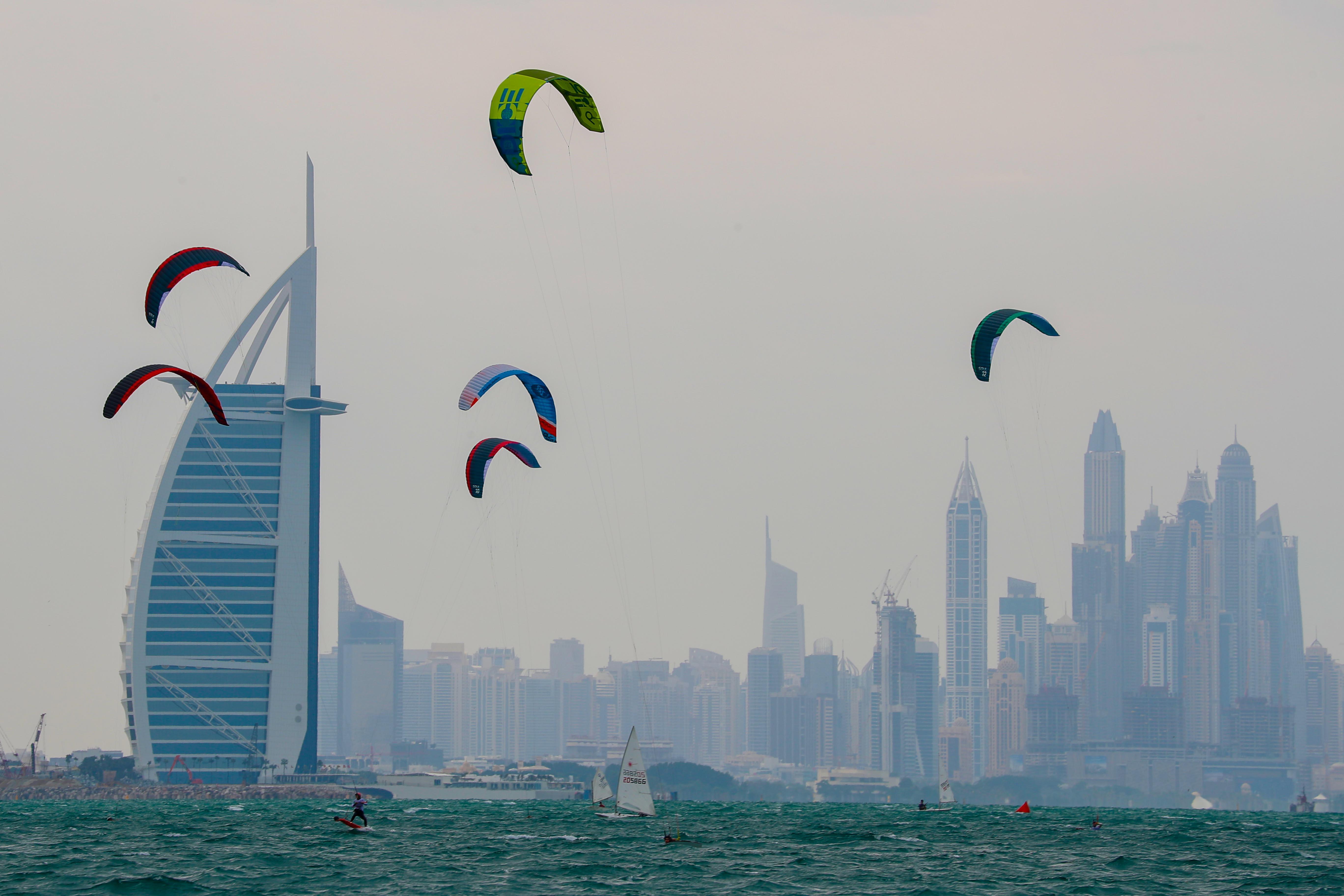 Dubai Kitesurf Open at Nessnass Beach today