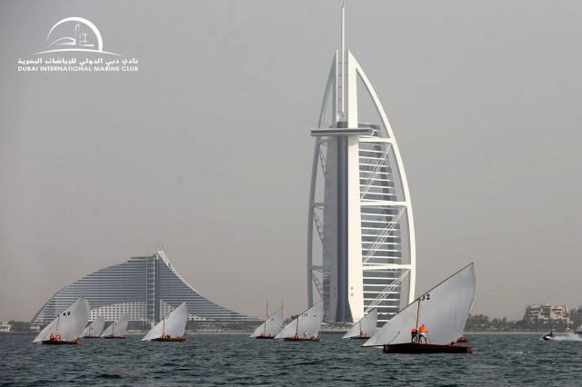 22ft Dubai Traditional Dhow Sailing Race - Heat 2