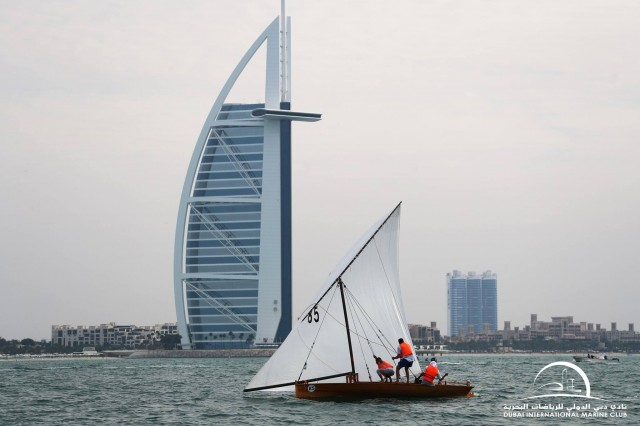 22ft Dubai Traditional Dhow Sailing Race - Heat 3